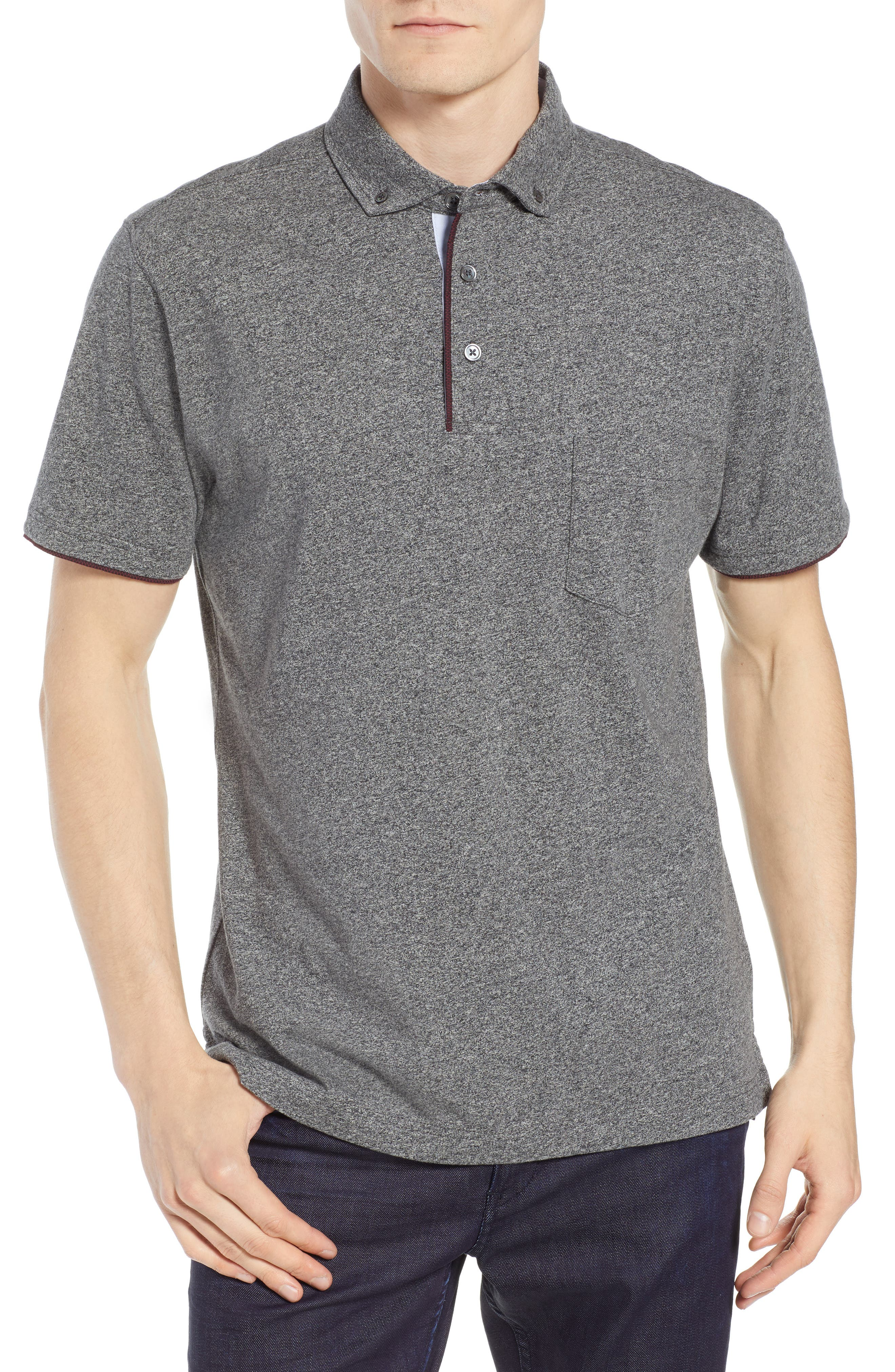 Haast Pass Button Down Polo,                         Main,                         color, 030
