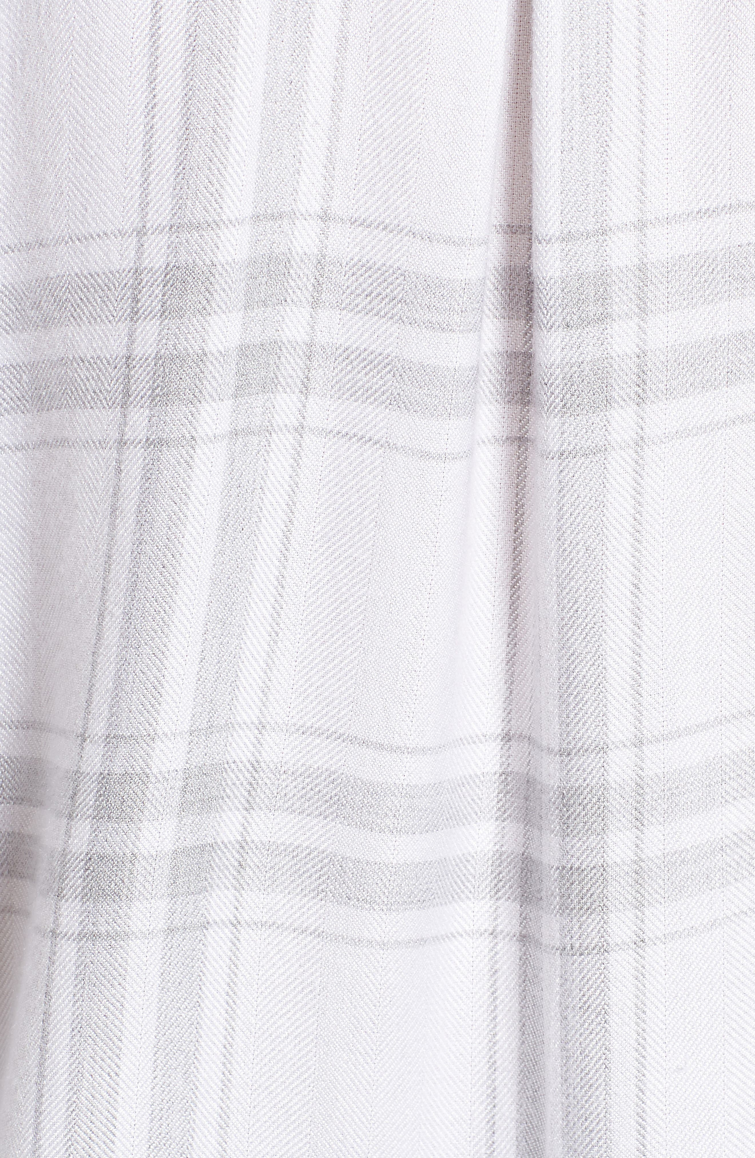 Allison Plaid Shirt,                             Alternate thumbnail 5, color,                             WHITE SILVER