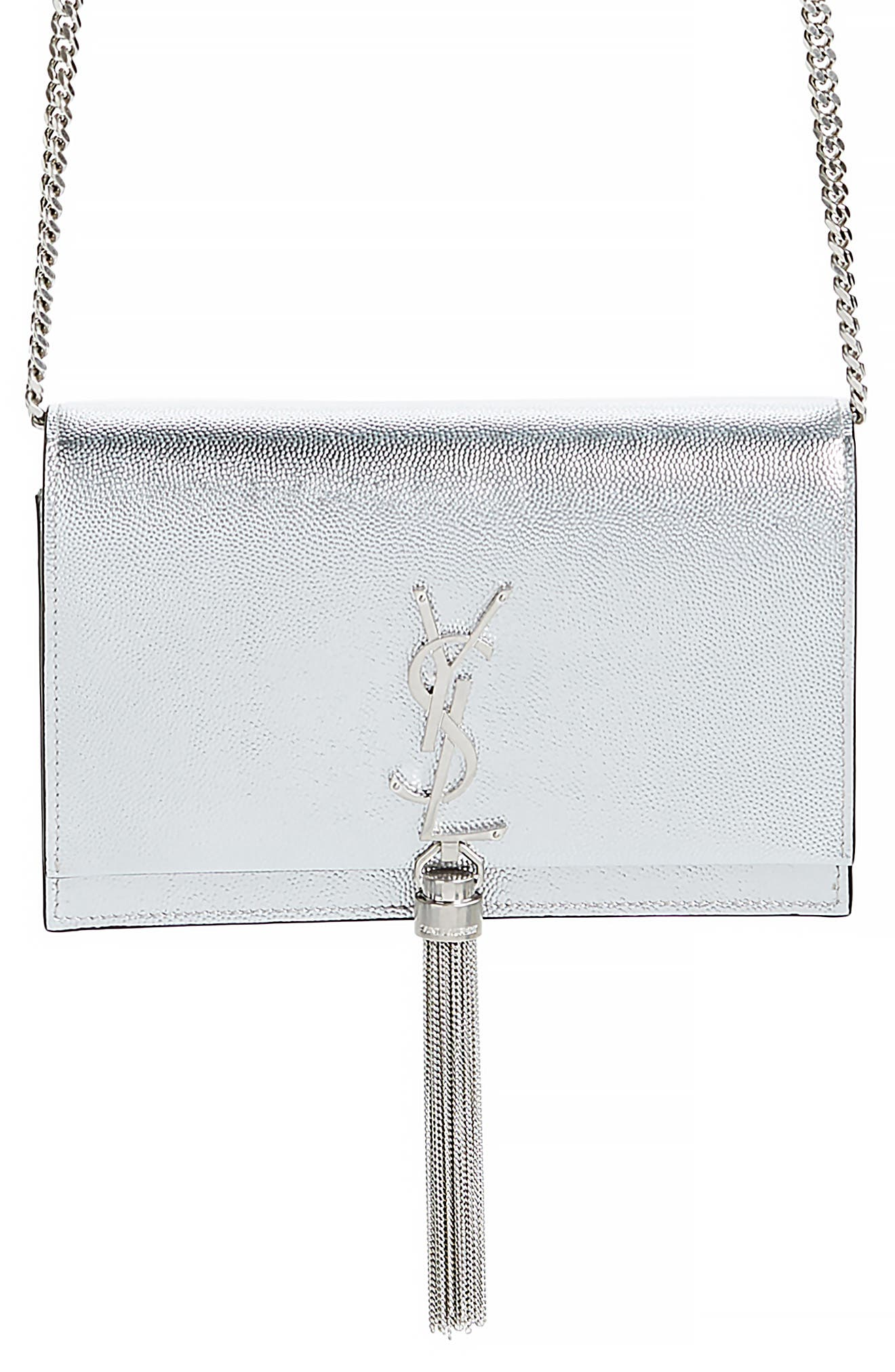 Kate Metallic Leather Wallet on a Chain,                         Main,                         color, 044