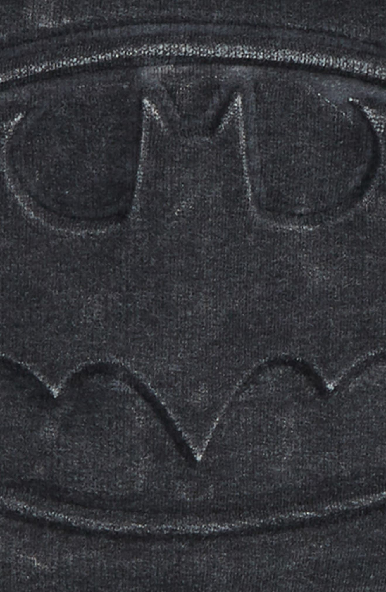 Batman Embossed Fleece Hoodie,                             Alternate thumbnail 2, color,                             001