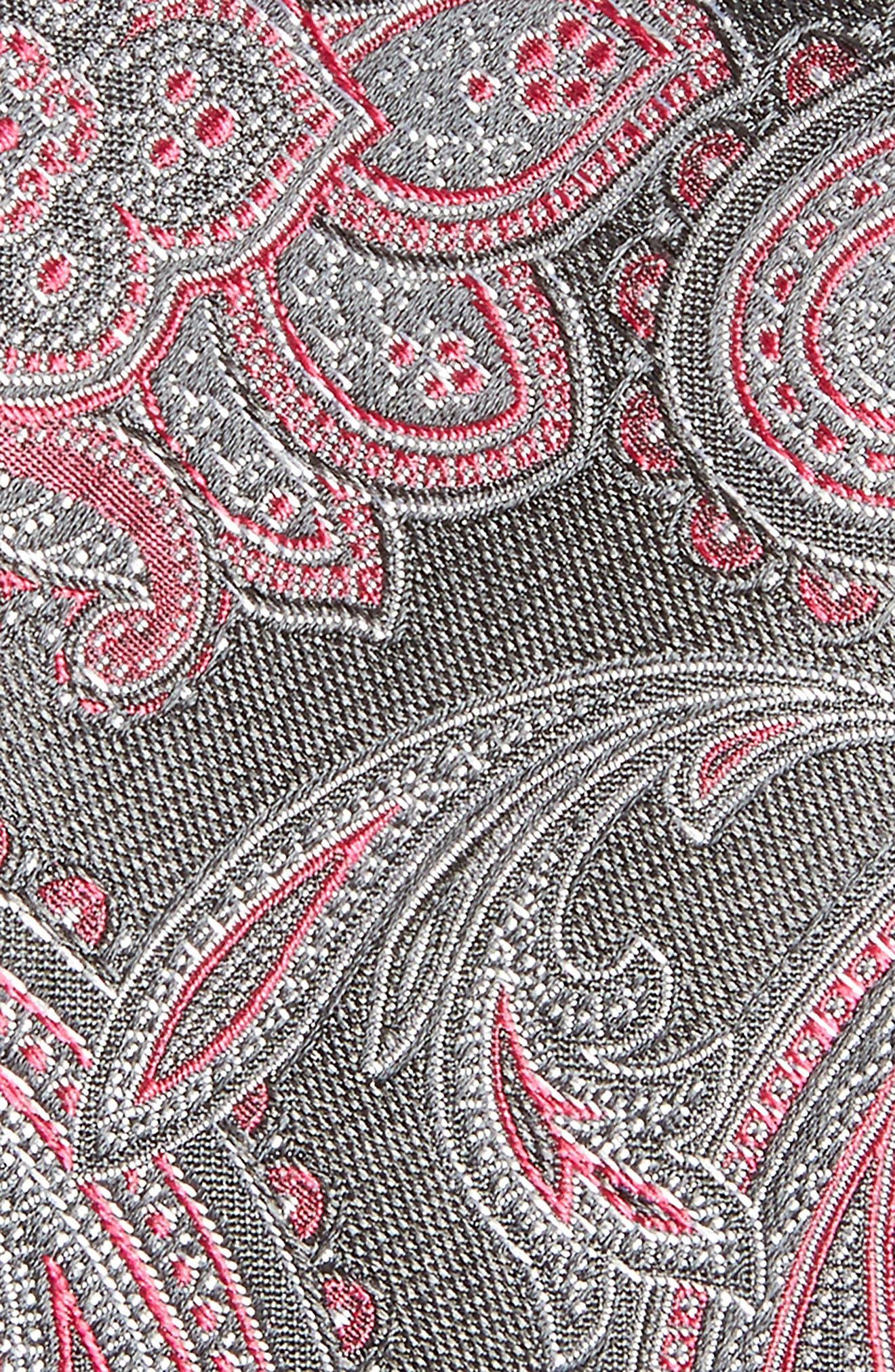 Barga Paisley Silk Tie,                             Alternate thumbnail 2, color,                             001