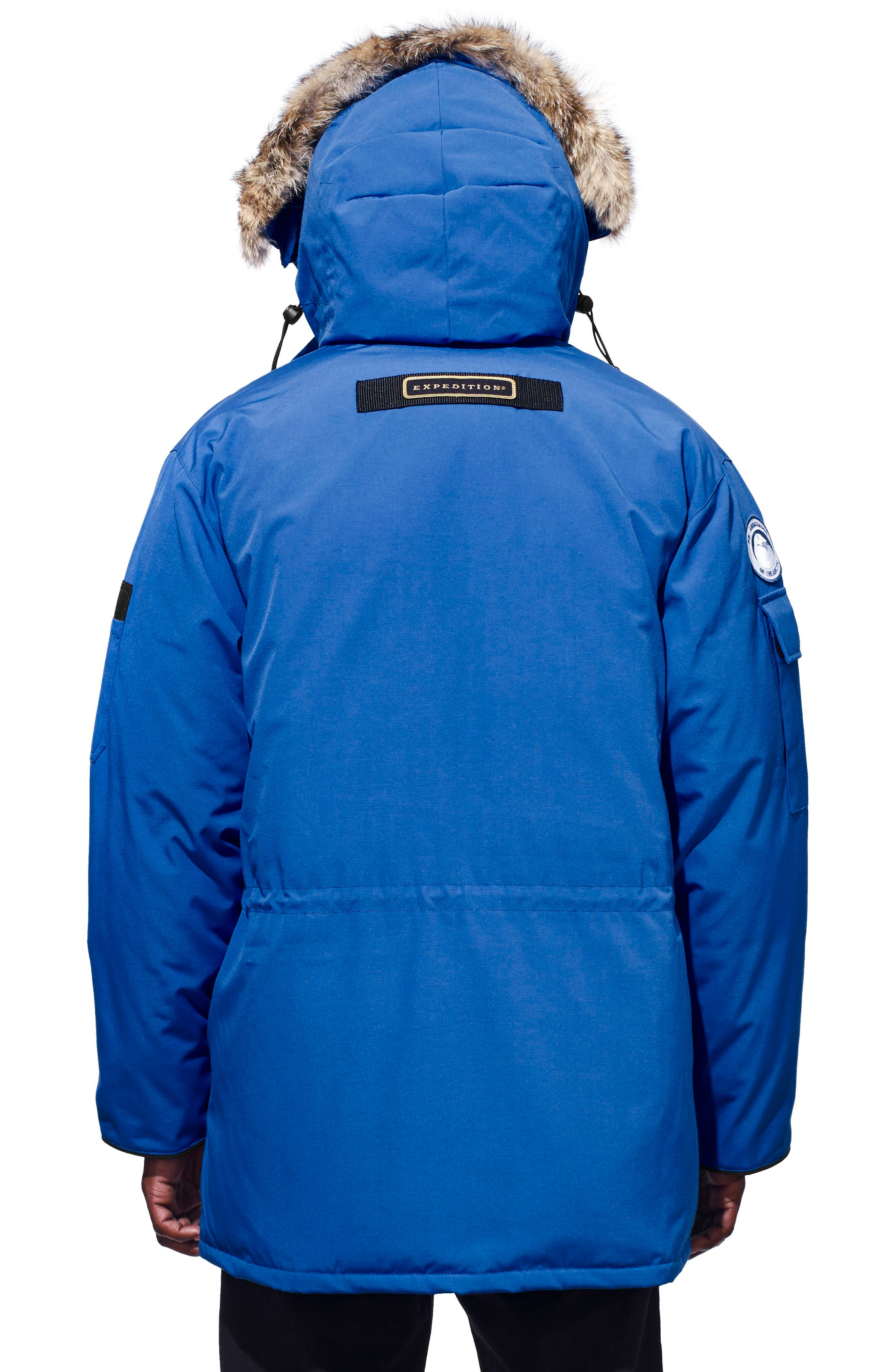 PBI Expedition Down Parka with Genuine Coyote Fur Trim,                             Alternate thumbnail 2, color,                             ROYAL PBI BLUE