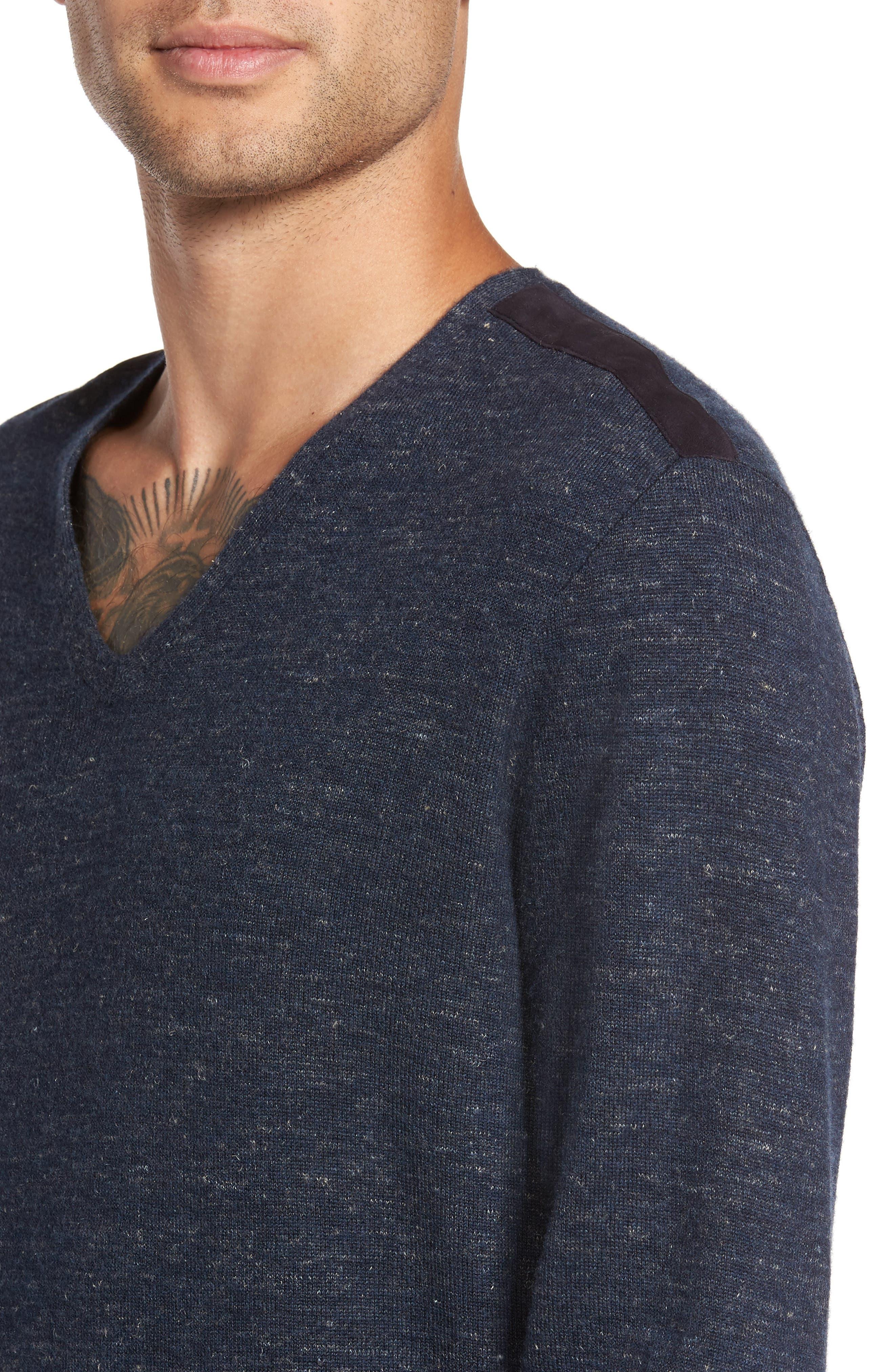 Long Sleeve V-Neck Sweater,                             Alternate thumbnail 11, color,