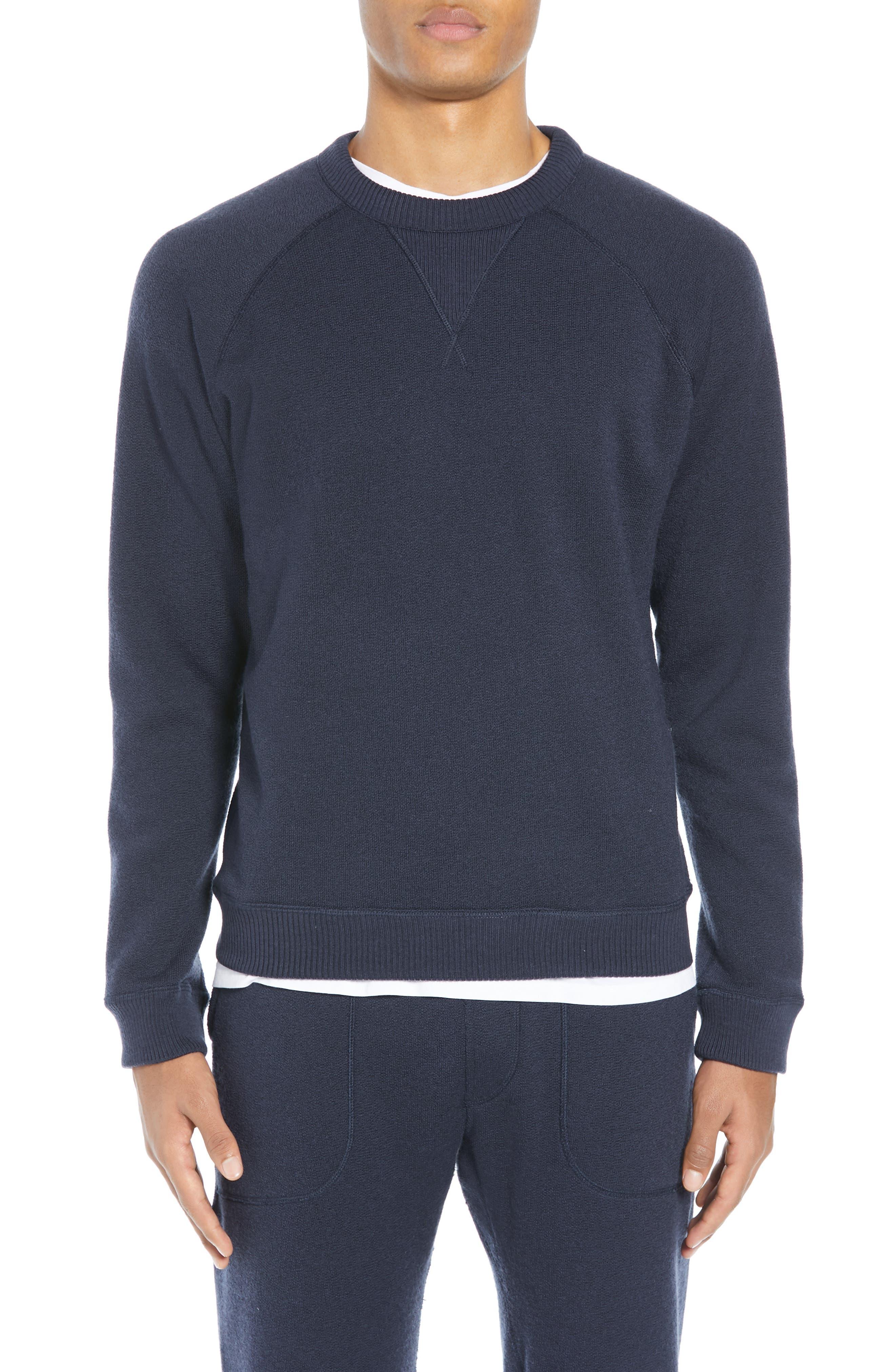 The Merino Wool Fleece Crew Sweatshirt,                             Alternate thumbnail 2, color,                             NAVY