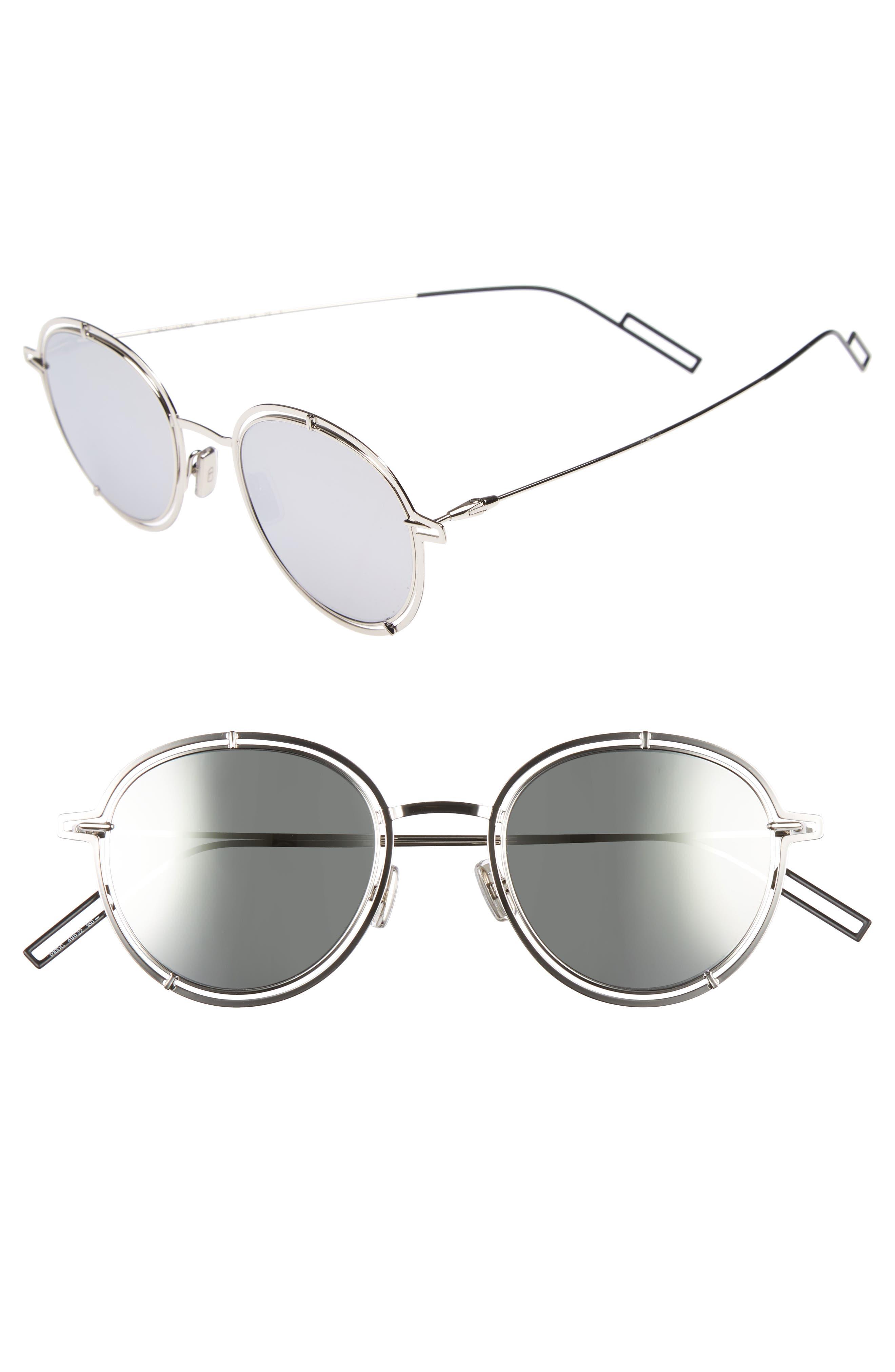 49mm Round Sunglasses,                             Main thumbnail 2, color,
