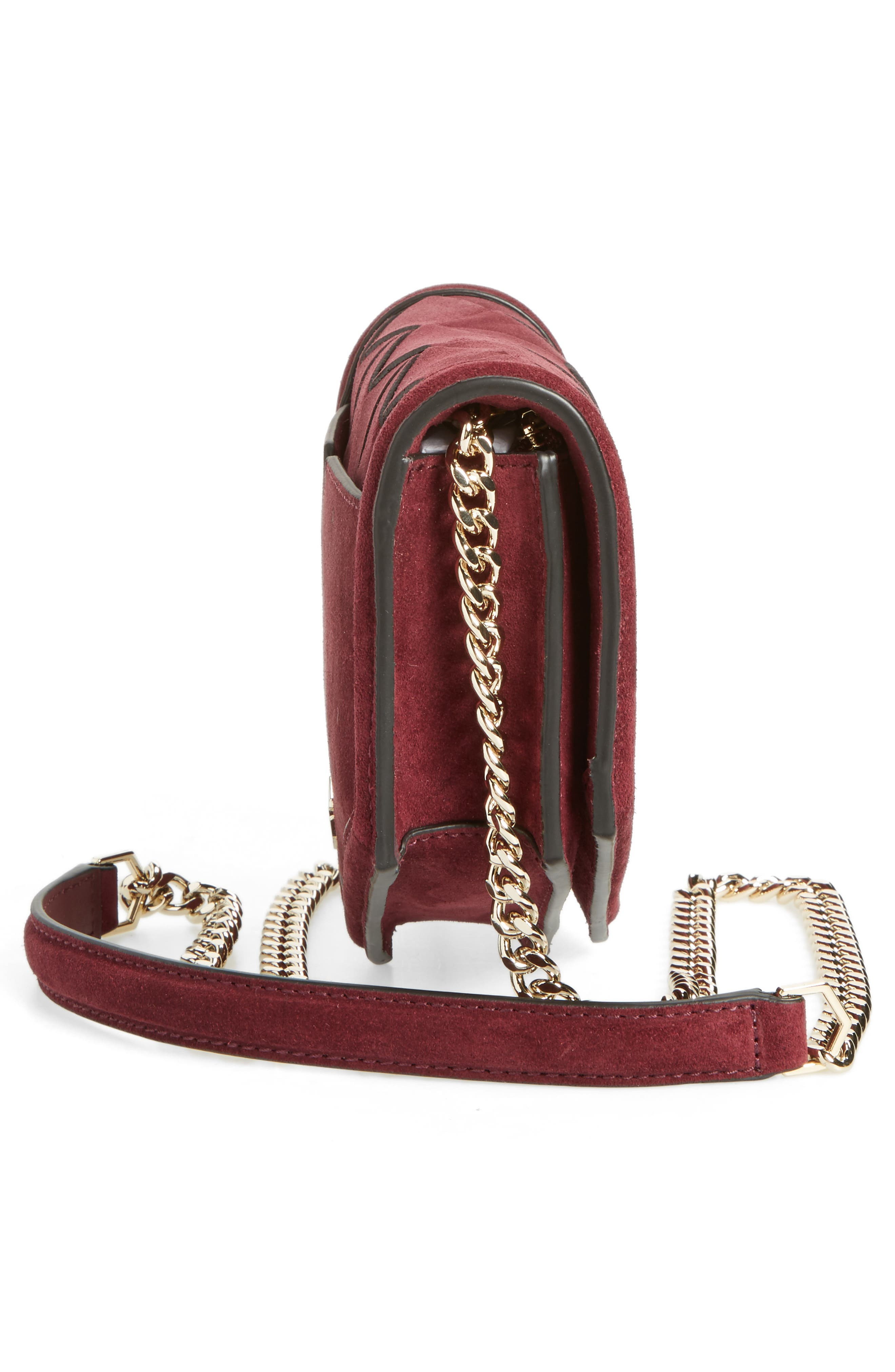 Jaunt Woven Calfskin Suede Wallet on a Chain,                             Alternate thumbnail 10, color,