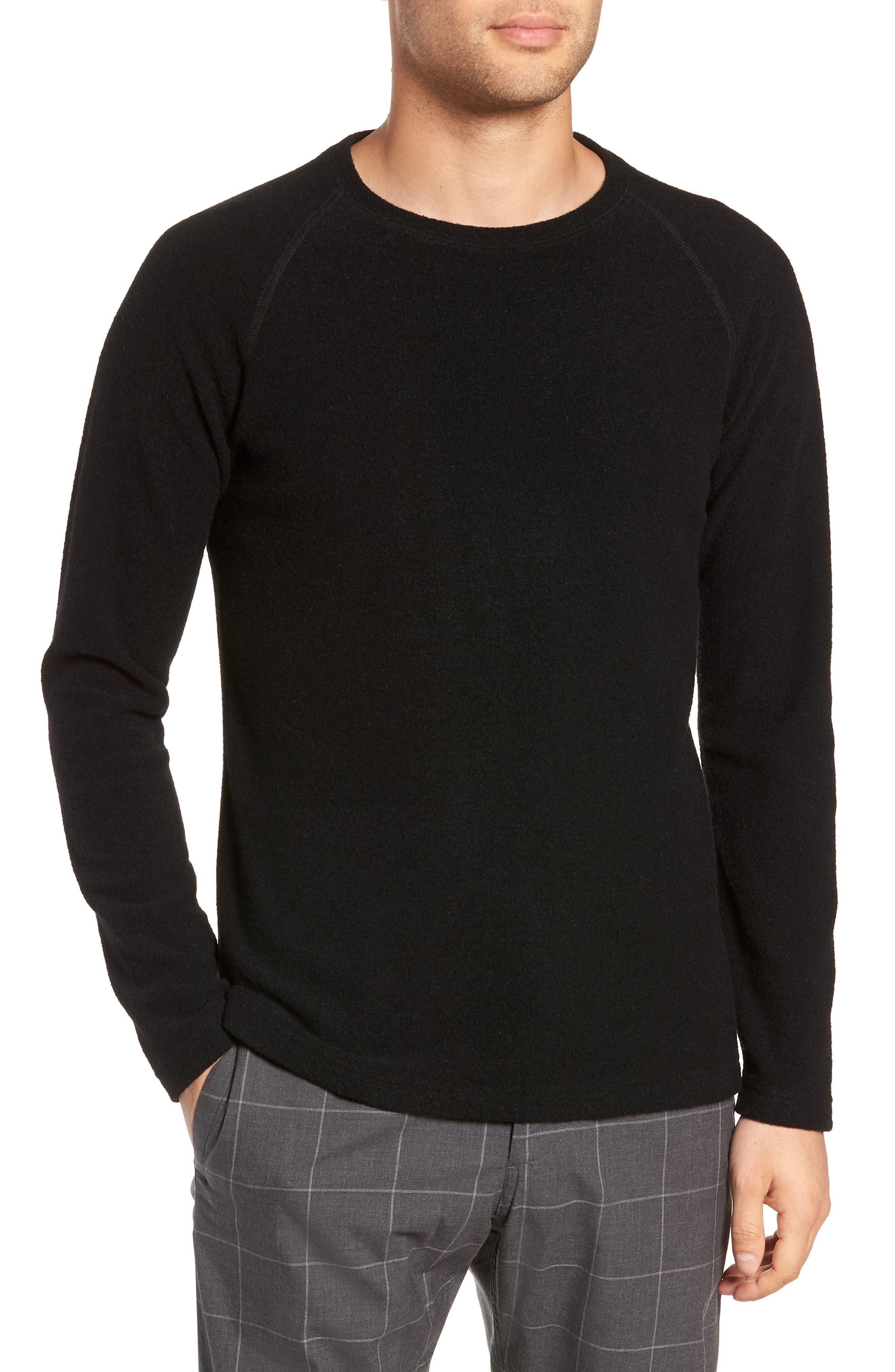 Wings + Horns Felted Wool Sweater, Black
