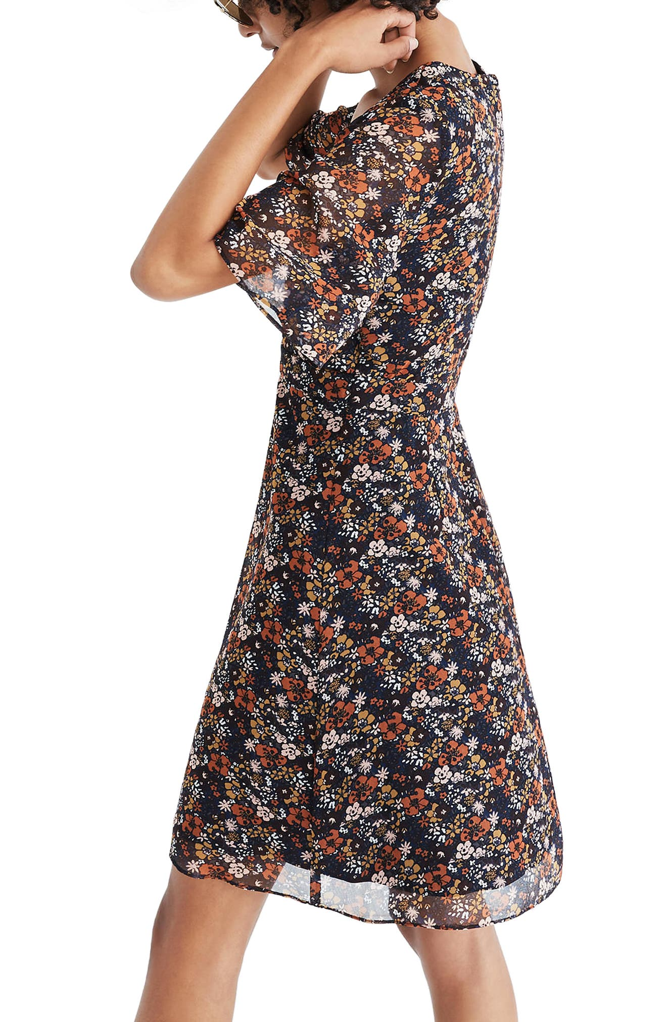 Orchard Flutter Sleeve Dress,                             Alternate thumbnail 2, color,                             200