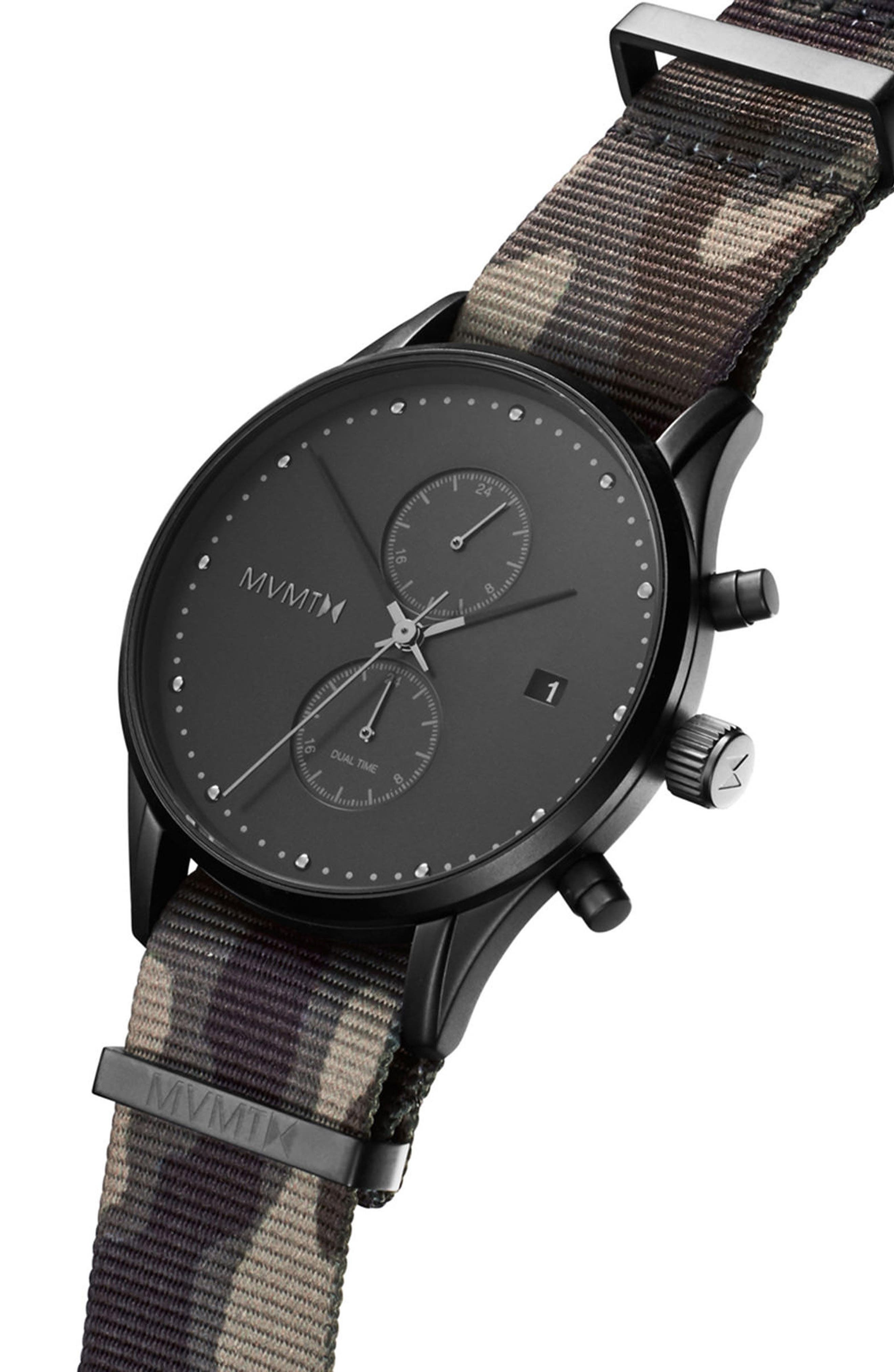 Voyager Chronograph NATO Strap Watch, 42mm,                             Alternate thumbnail 3, color,                             300