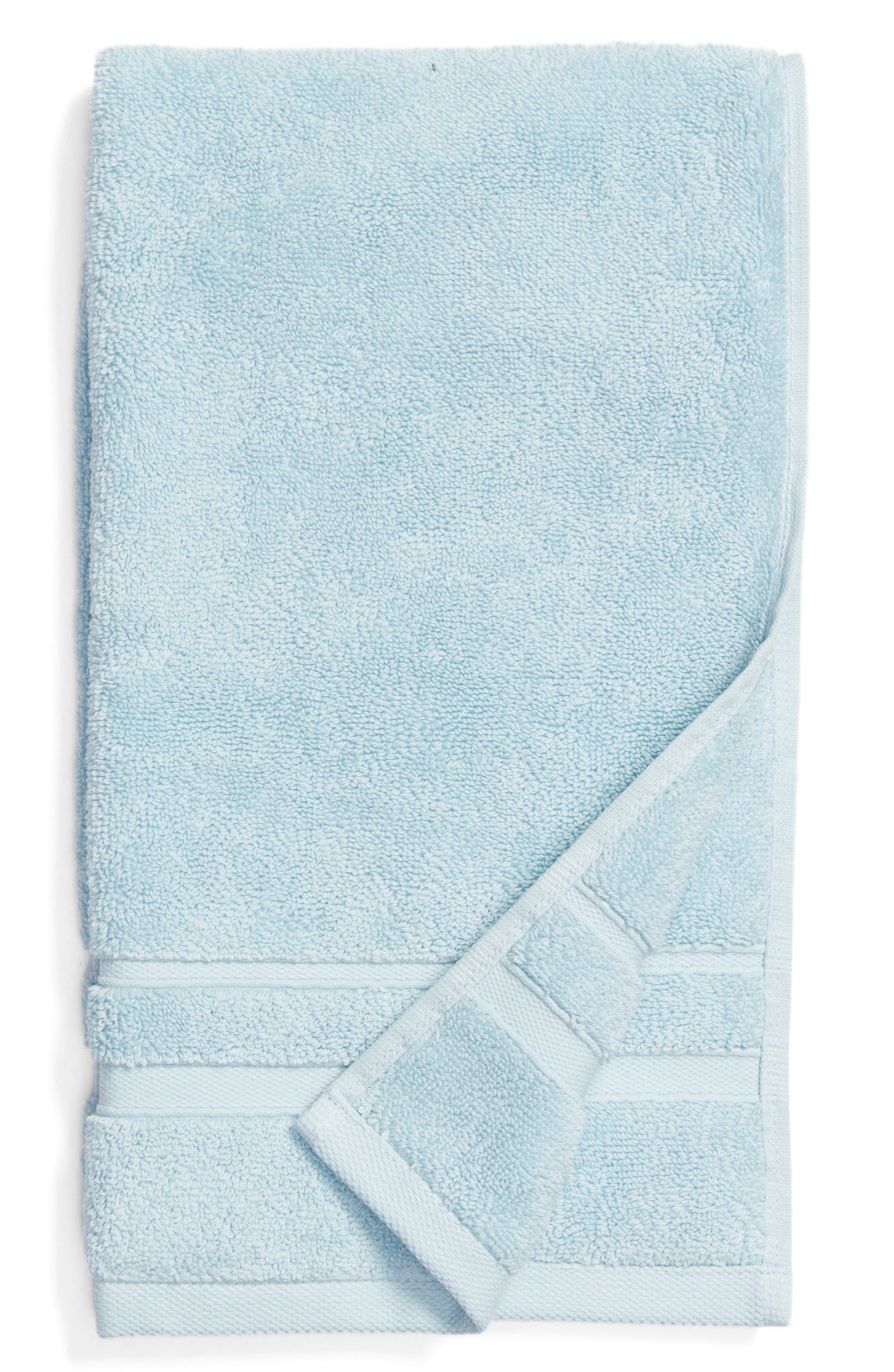Studio 'Perennial' Combed Turkish Cotton Hand Towel,                             Main thumbnail 1, color,                             CHRYSTAL BLUE