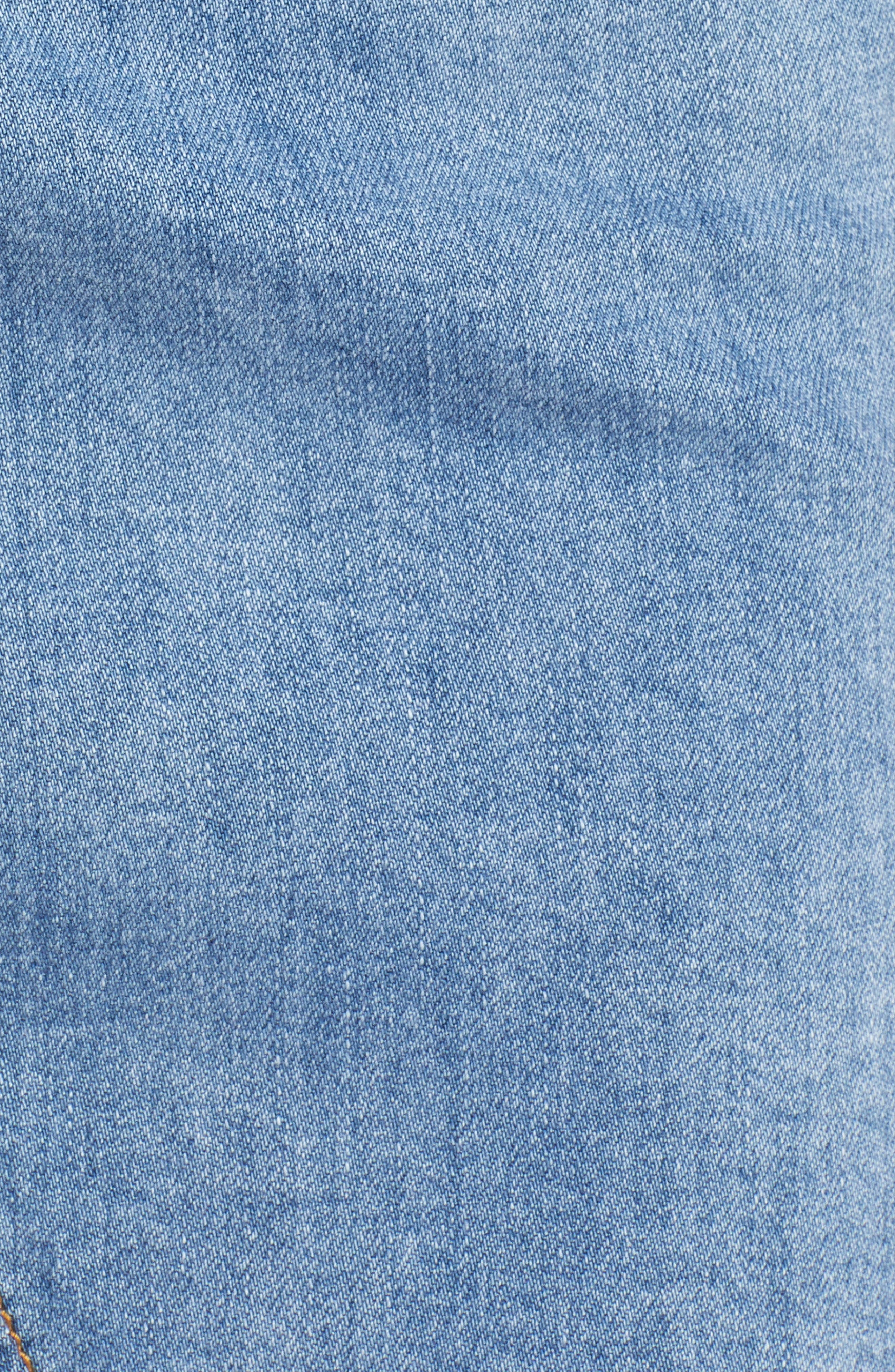 Distressed Denim Skirt,                             Alternate thumbnail 6, color,                             400