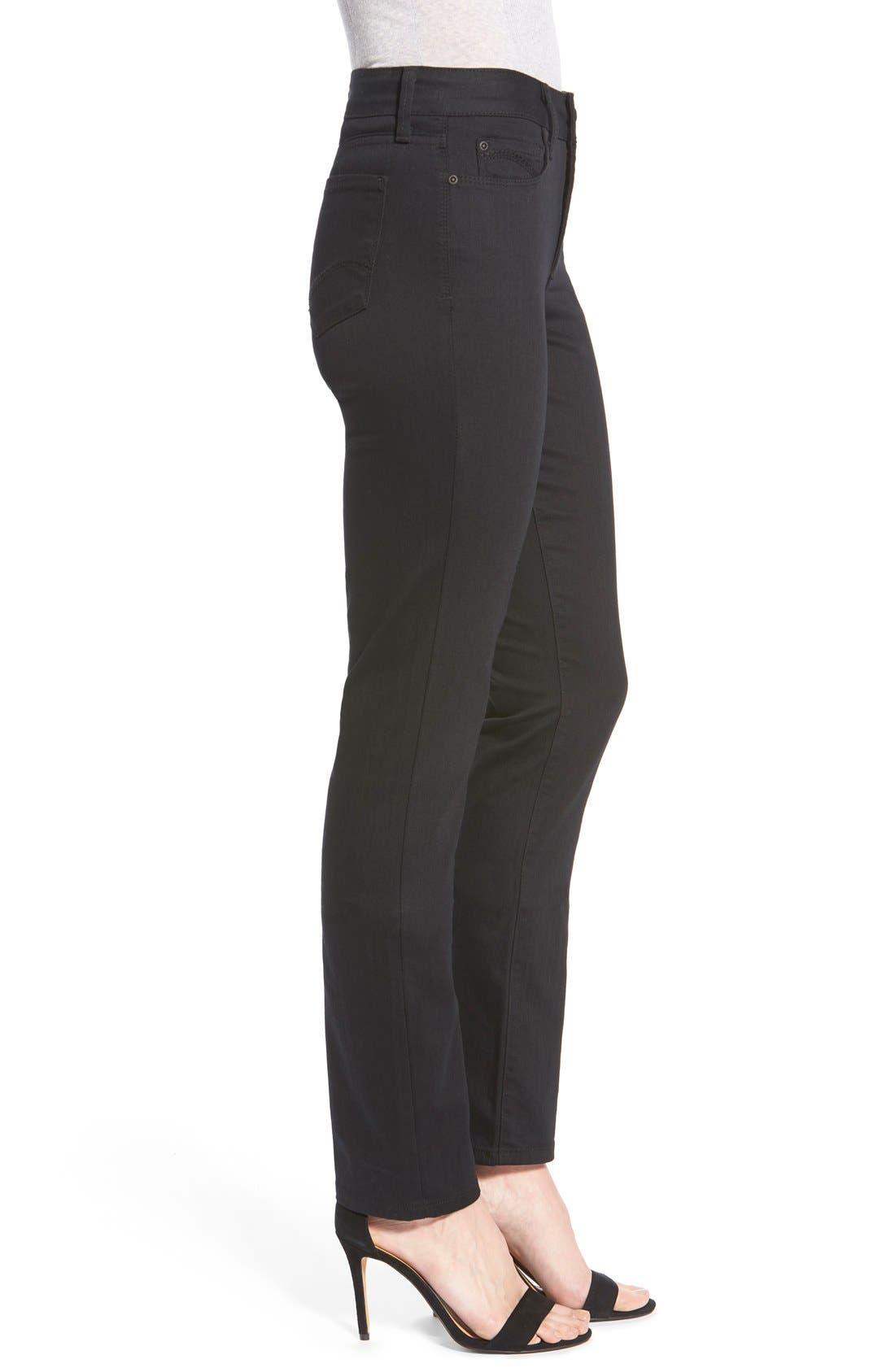 'Samantha' Stretch Slim Straight Leg Jeans,                             Alternate thumbnail 4, color,                             001