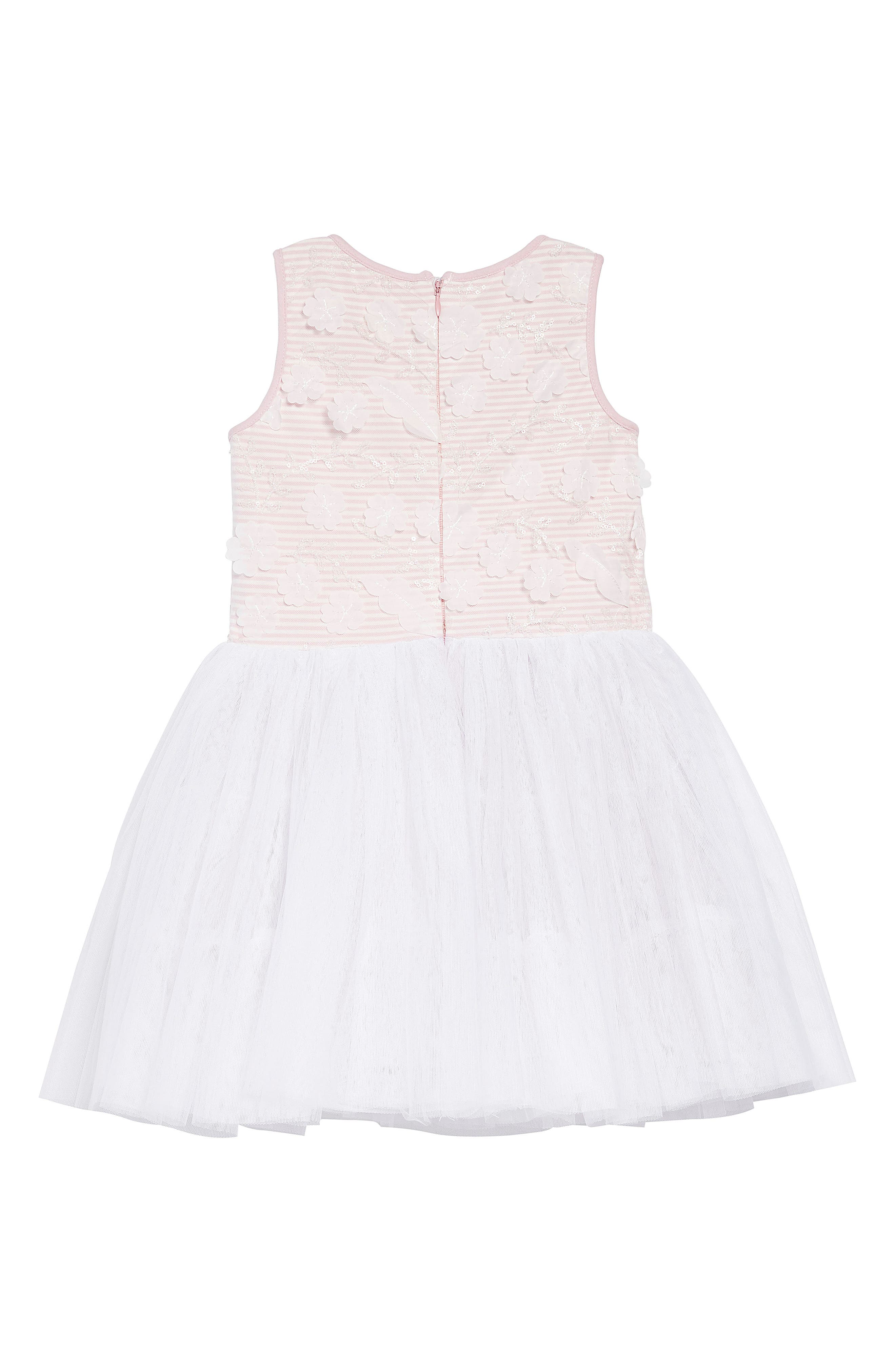 Embellished Bodice Dress,                             Alternate thumbnail 2, color,                             PINK/ WHITE