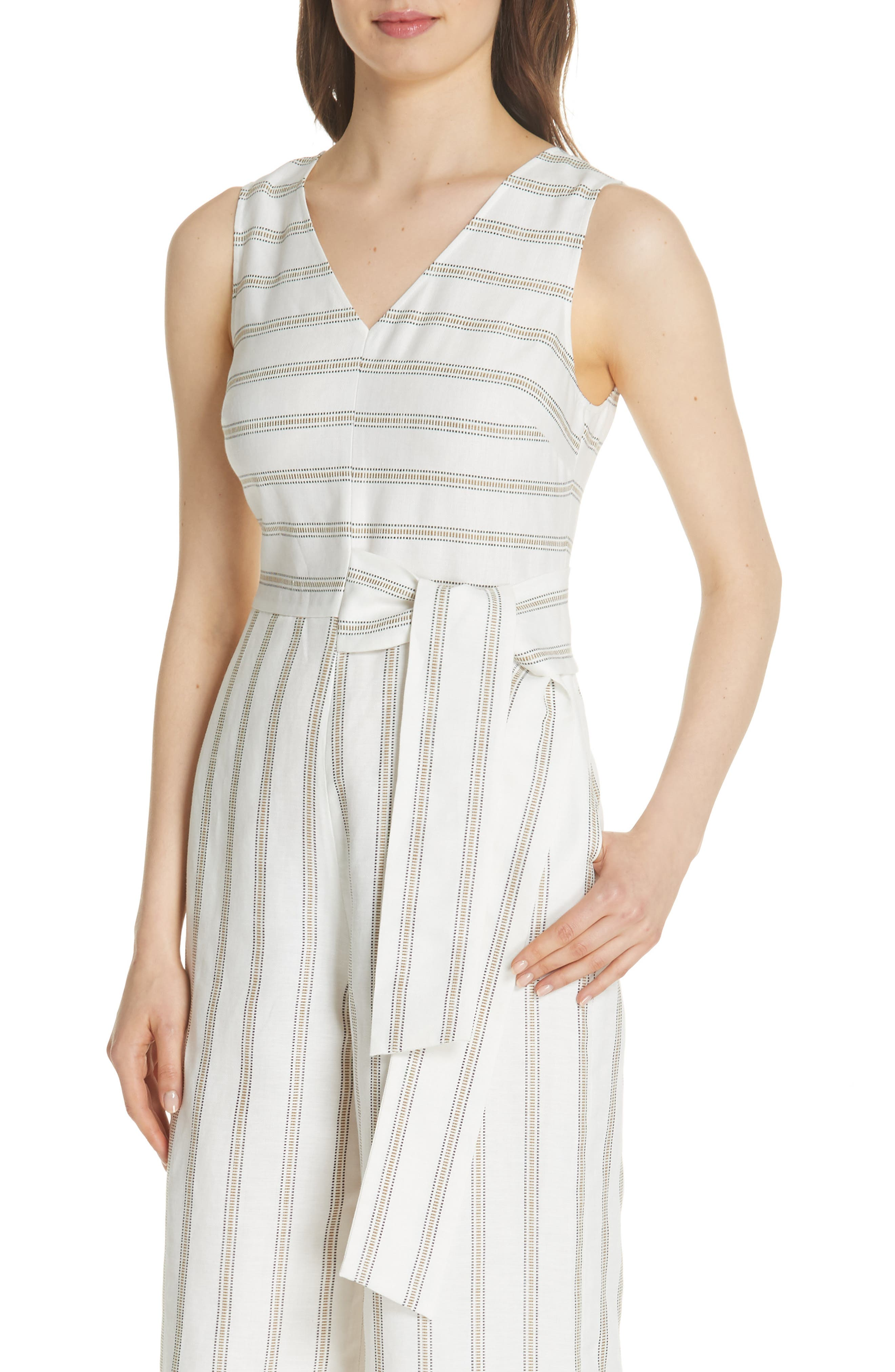 Colour by Numbers Zelma Stripe Jumpsuit,                             Alternate thumbnail 4, color,                             905