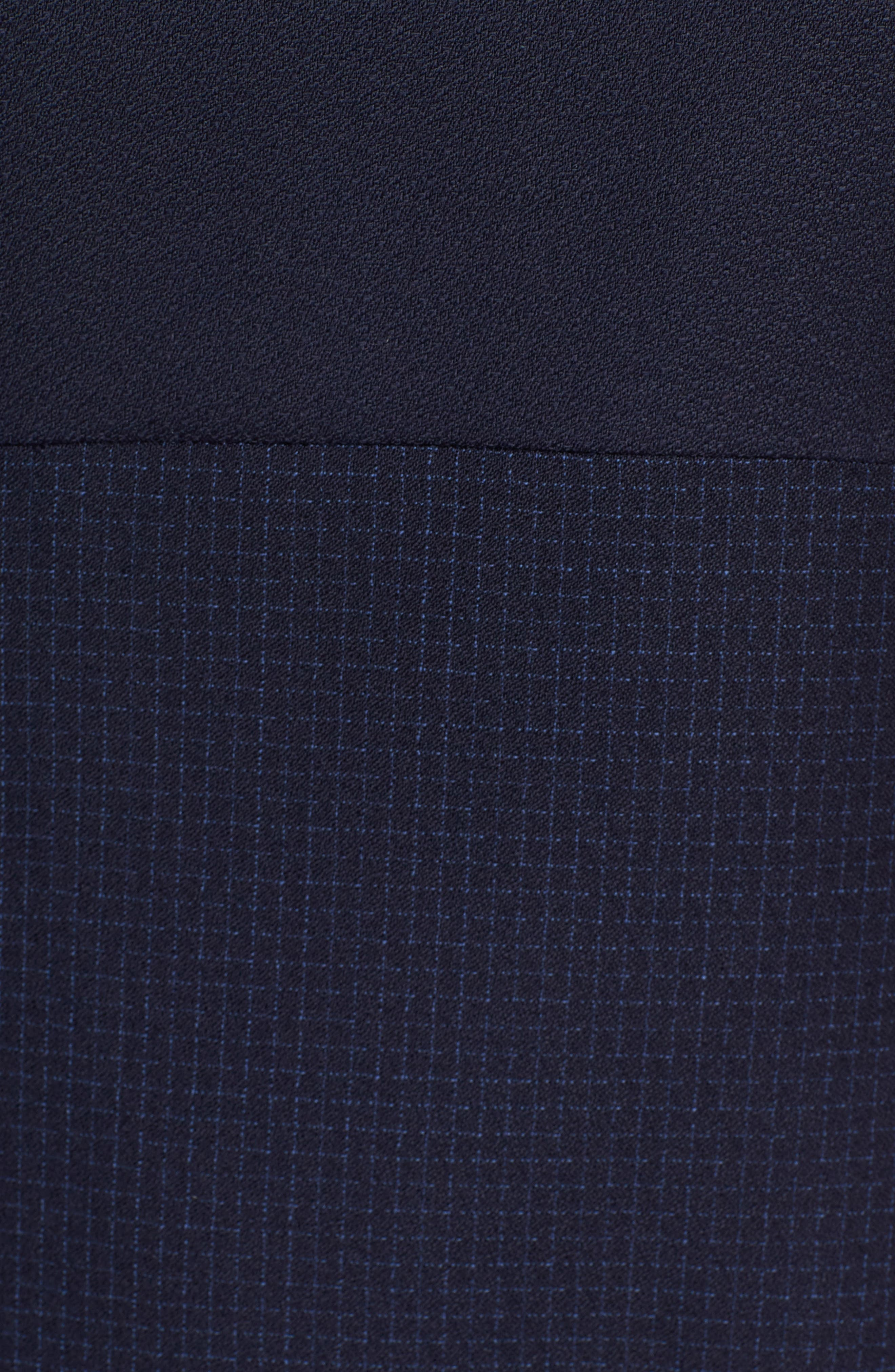 Dibena Windowpane Sheath Dress,                             Alternate thumbnail 6, color,
