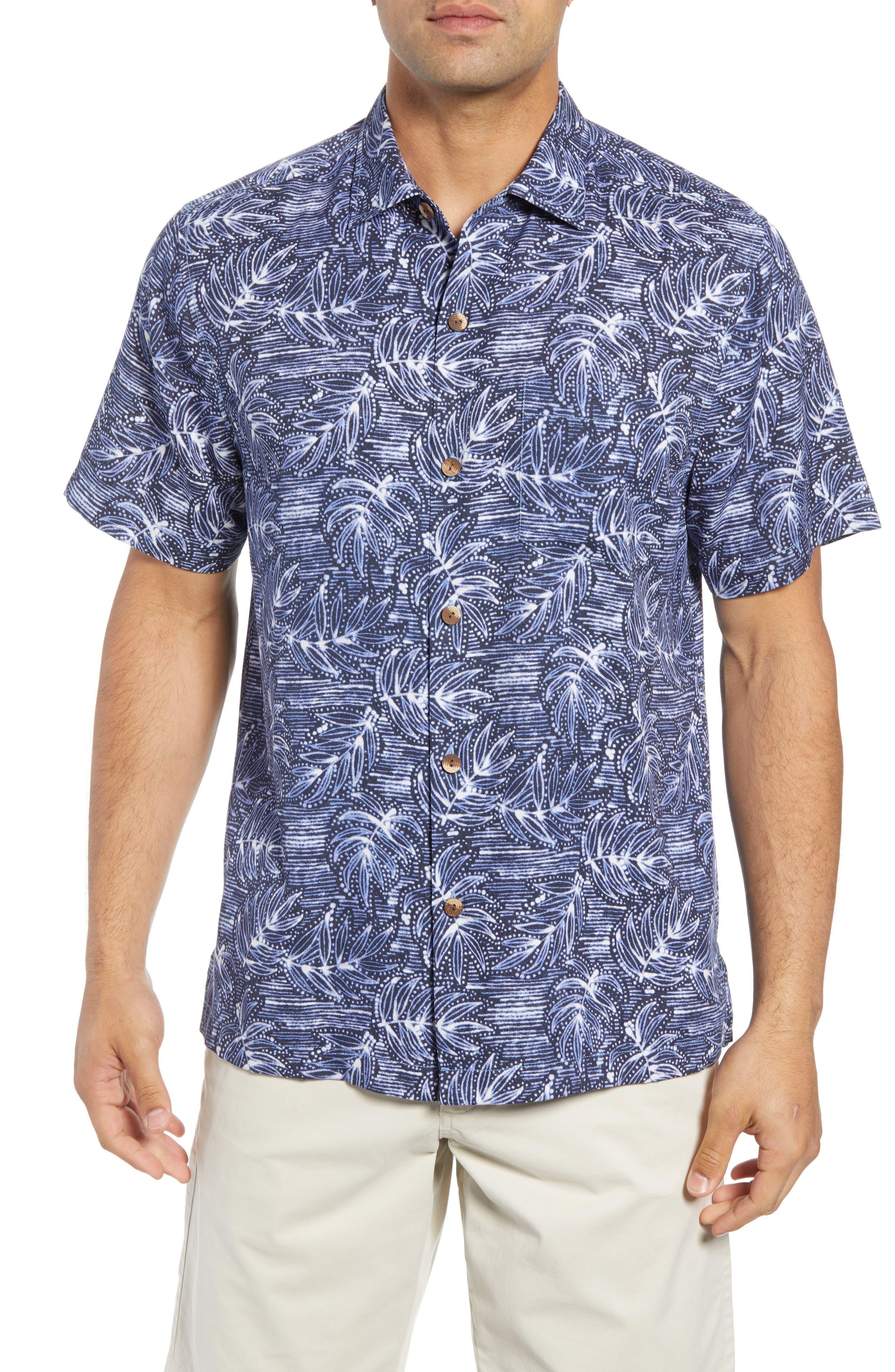 Bueno Batik Sport Shirt,                         Main,                         color, BLUE JEAN