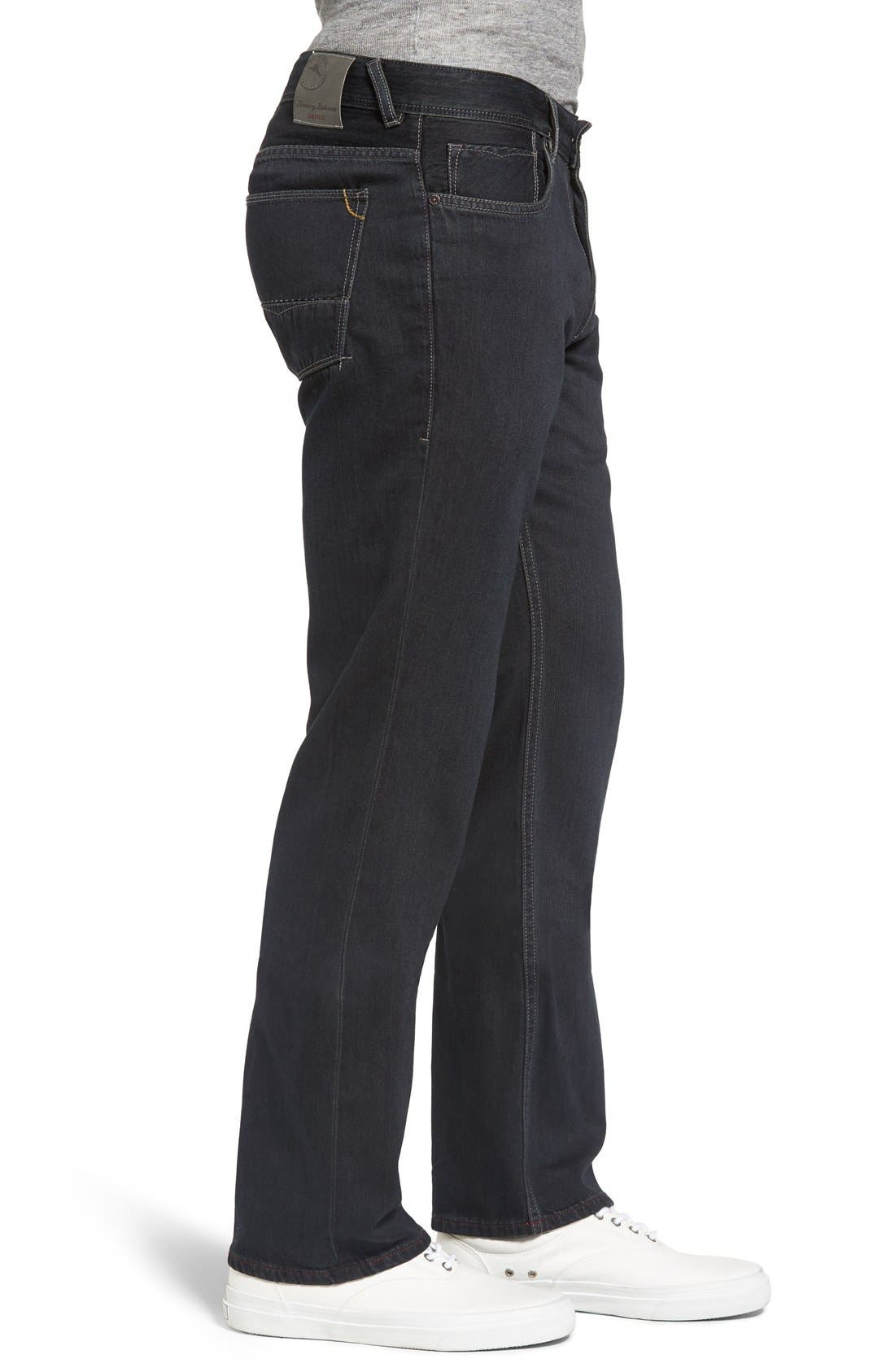 Cayman Relaxed Fit Straight Leg Jeans,                             Alternate thumbnail 4, color,                             BLACK OVERDYE