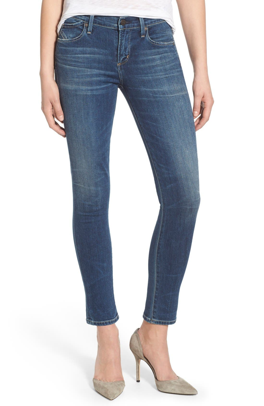 Ankle Skinny Jeans,                         Main,                         color, MODERN LOVE