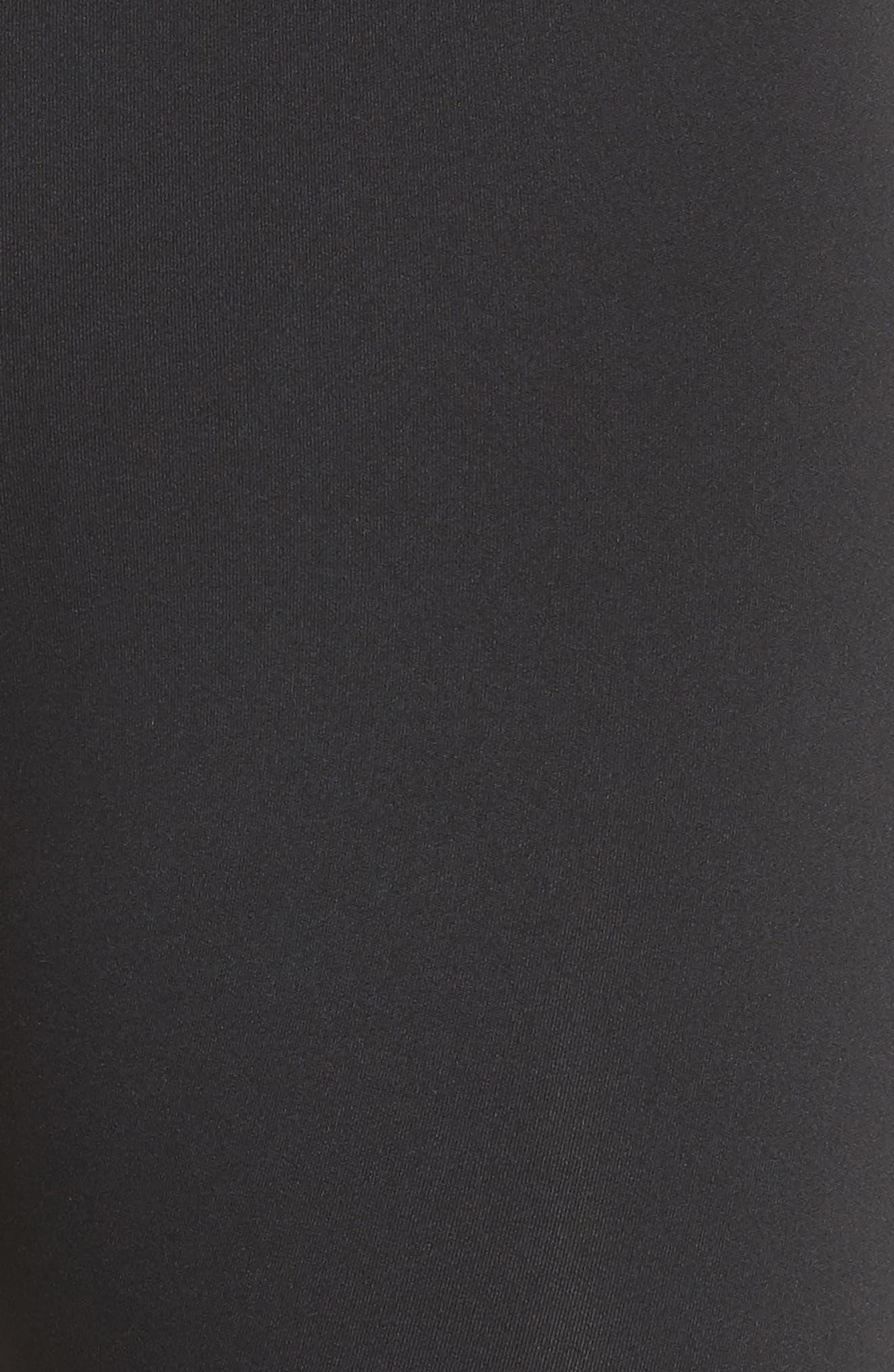 micro mesh leggings,                             Alternate thumbnail 5, color,                             BLACK