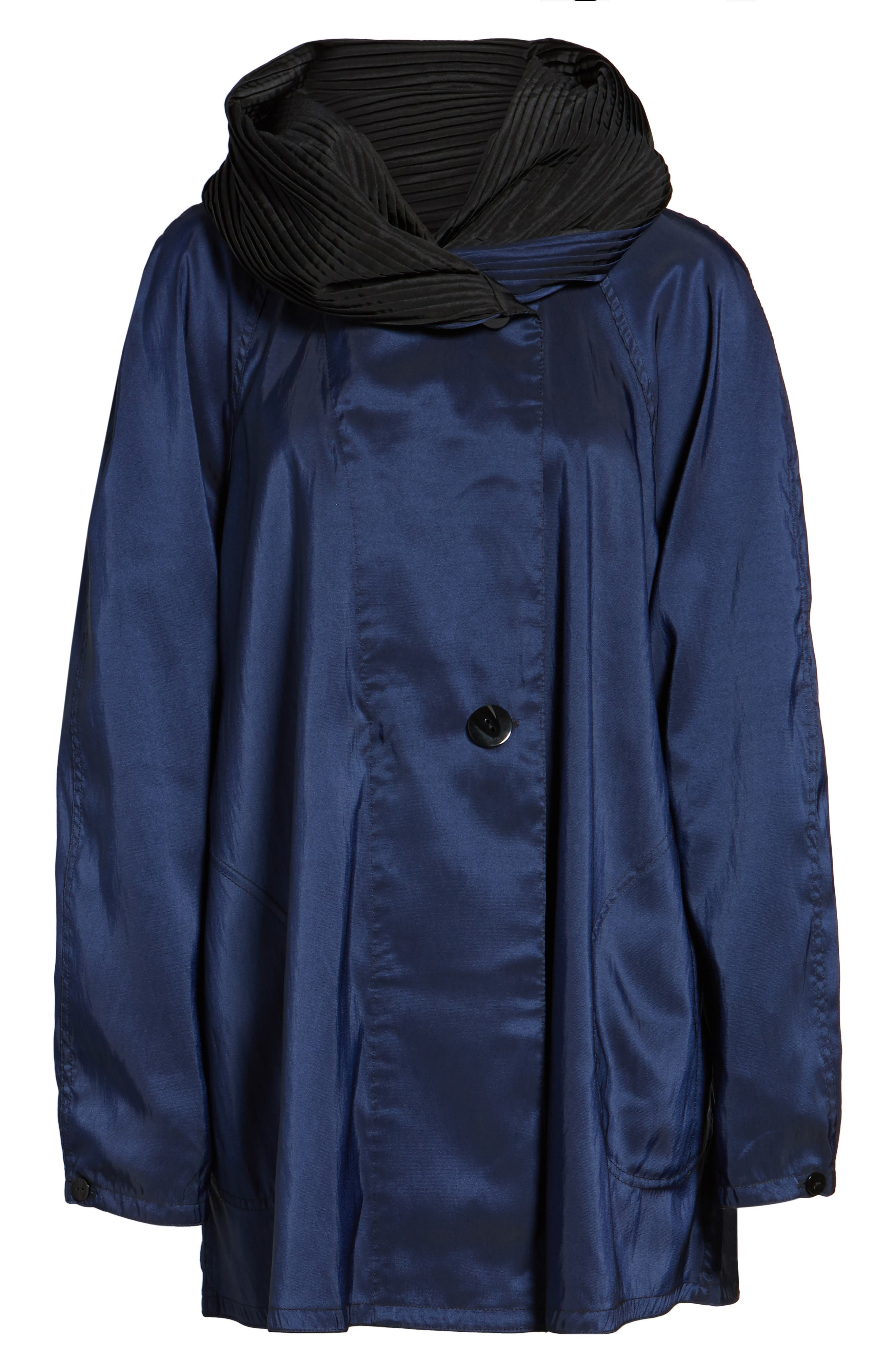 'Mini Donatella' Reversible Pleat Hood Packable Travel Coat,                             Alternate thumbnail 62, color,