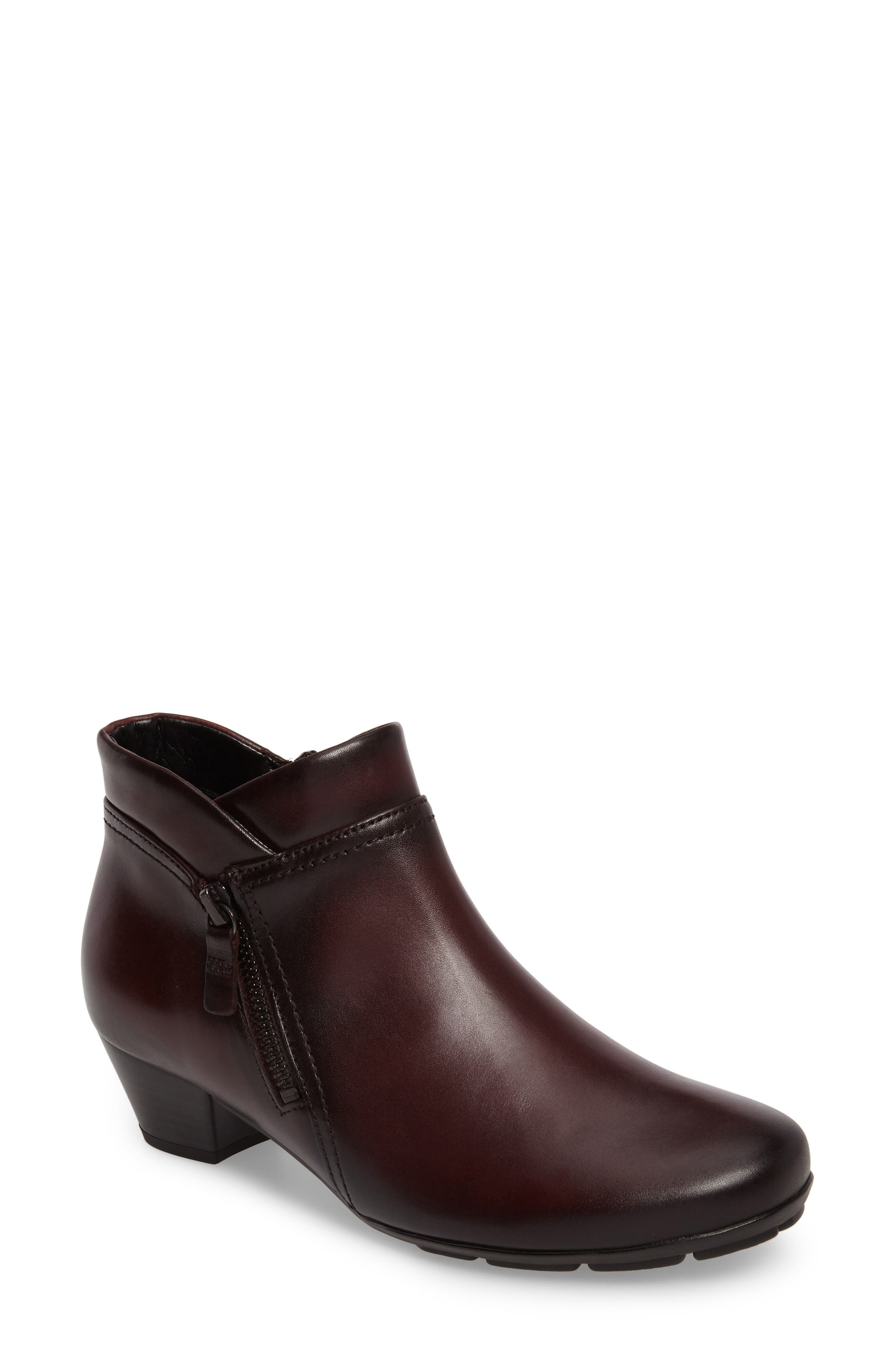 Classic Ankle Boot,                             Main thumbnail 1, color,                             WINE LEATHER