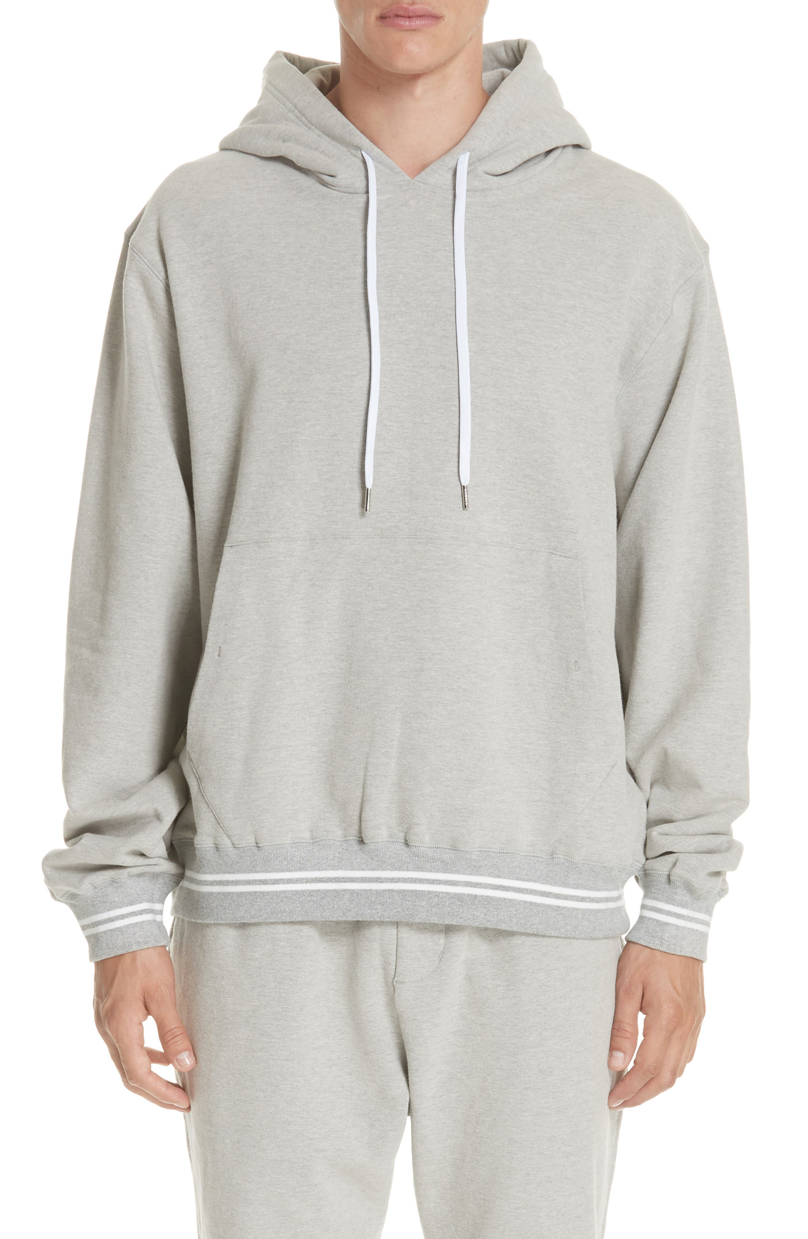 Oversize Hoodie,                             Main thumbnail 1, color,                             HEATHER GREY