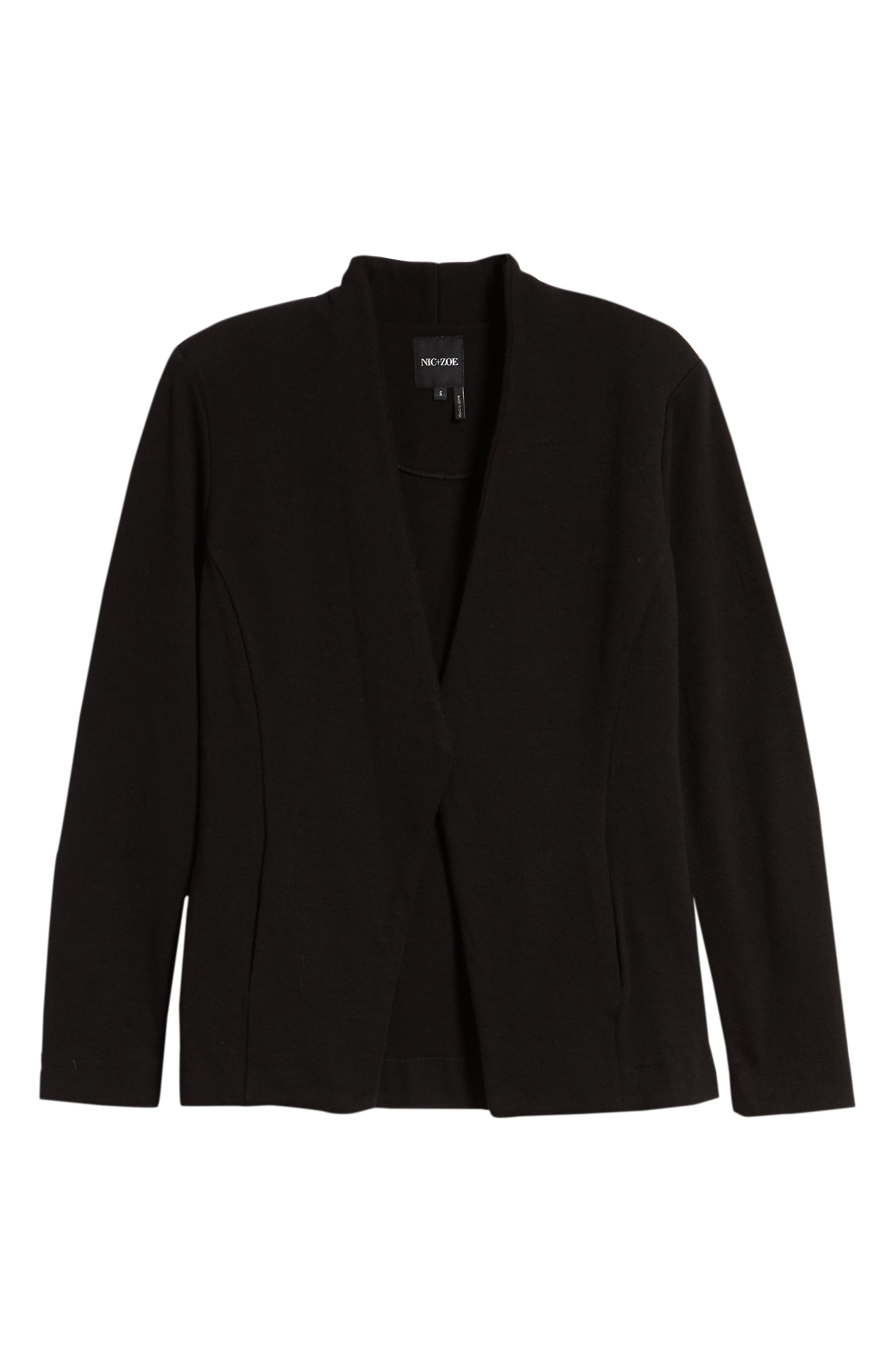 Sleek Jacket,                             Alternate thumbnail 6, color,                             BLACK ONYX