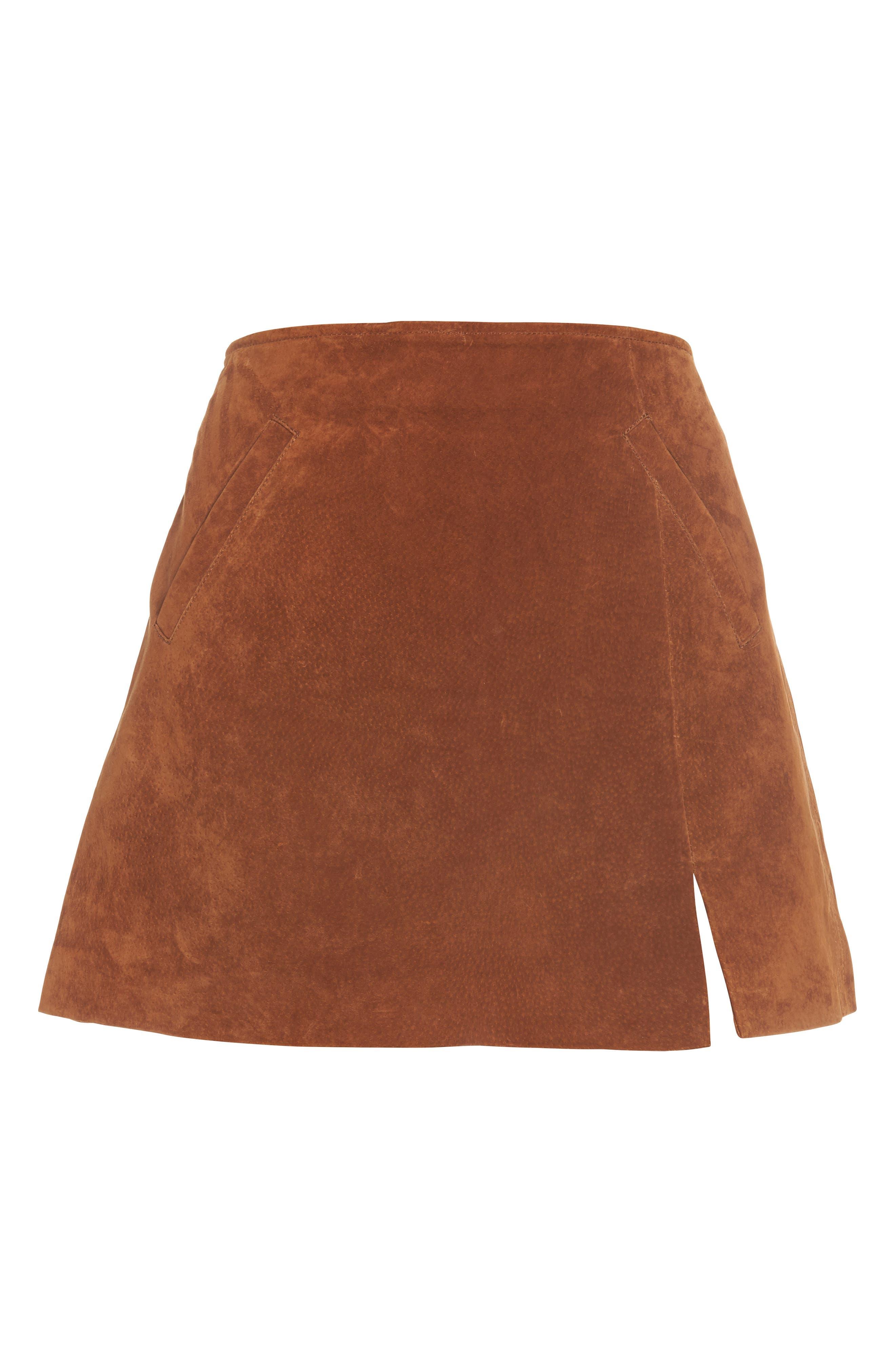 Suede Miniskirt,                             Alternate thumbnail 34, color,