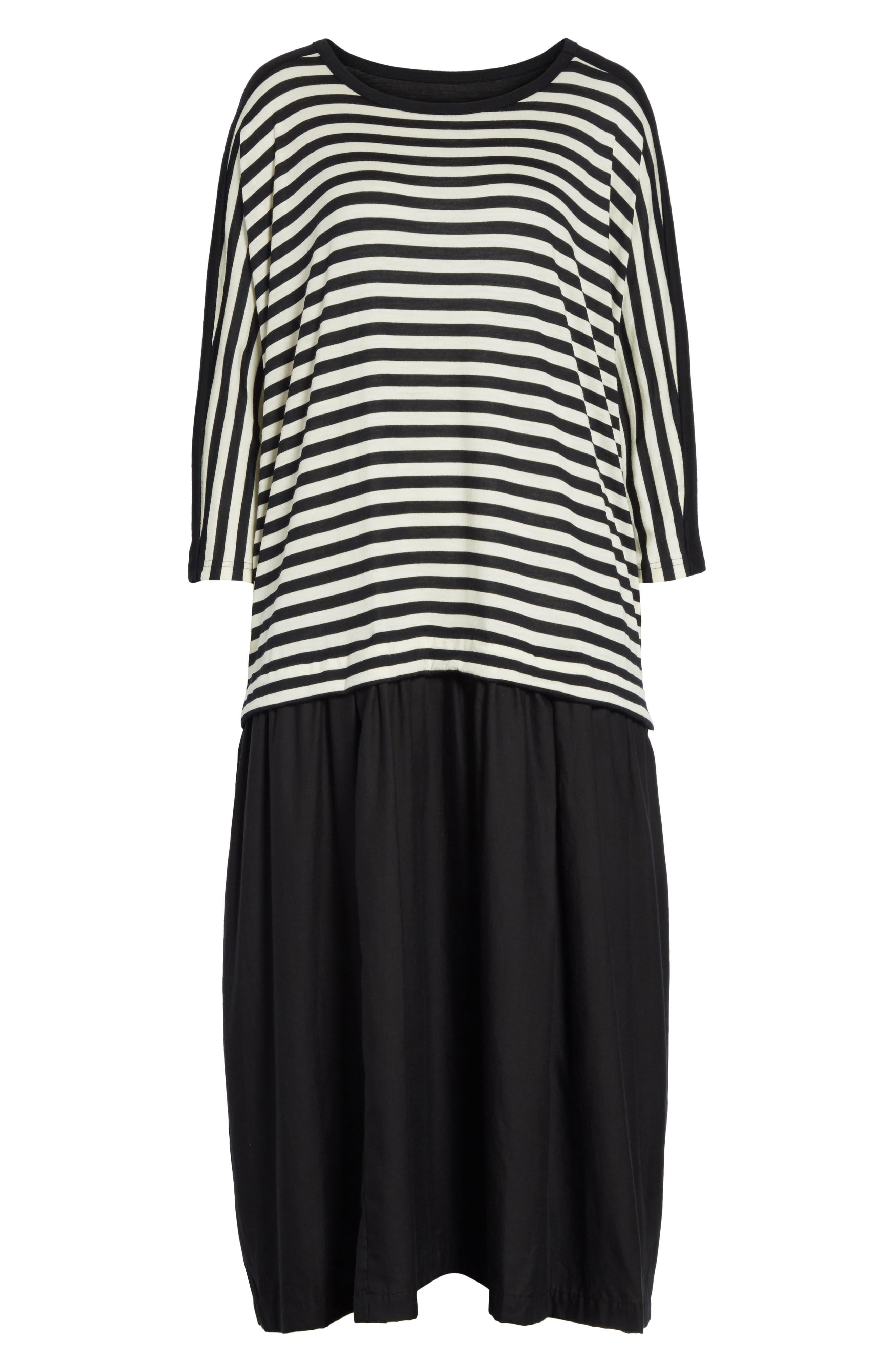 Mixed Media Dress,                             Alternate thumbnail 6, color,                             001
