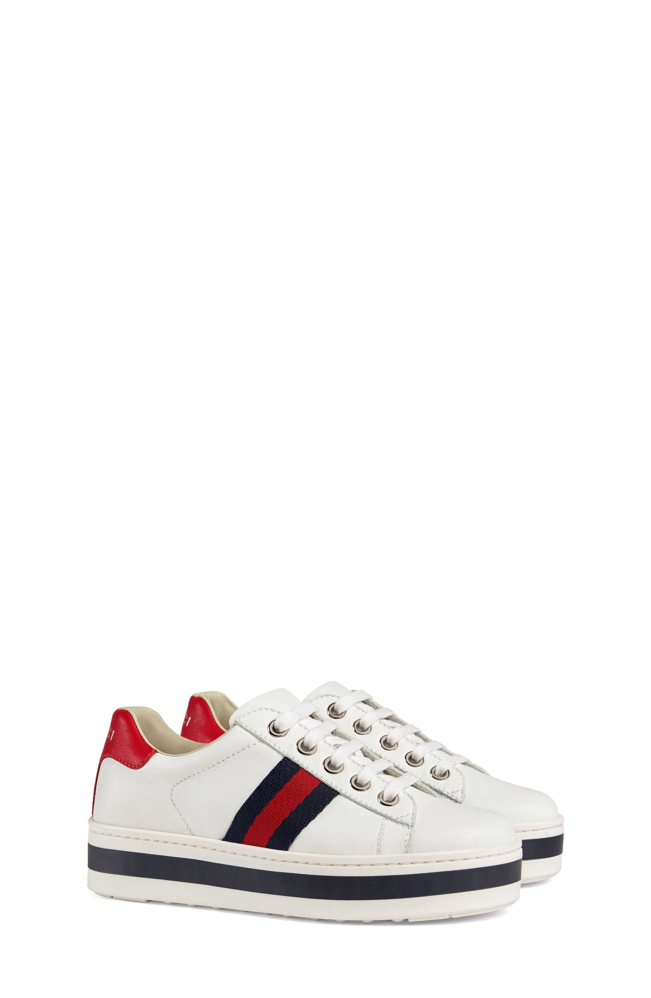 New Ace Platform Sneaker,                             Main thumbnail 1, color,                             WHITE