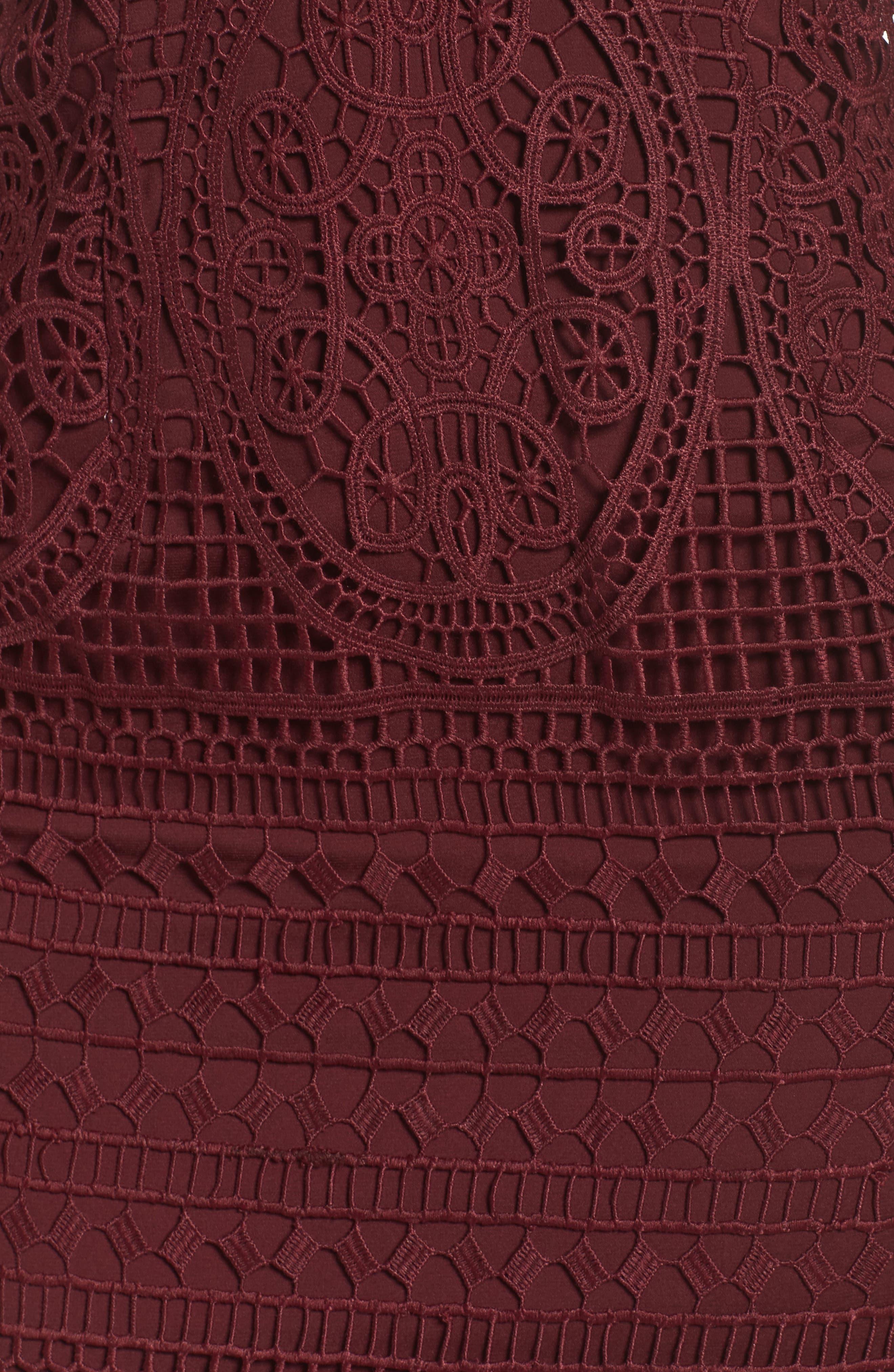 Versailles Lace Pencil Dress,                             Alternate thumbnail 5, color,                             502