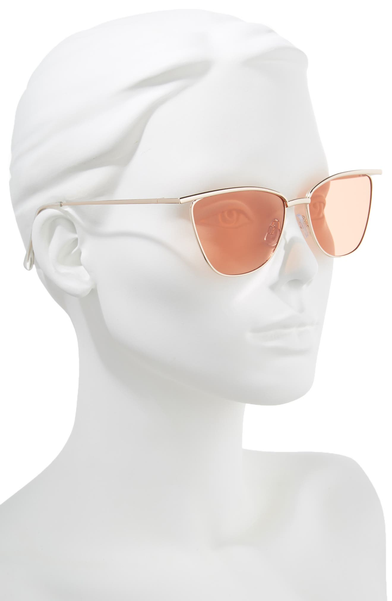 55mm Winged Cat Eye Sunglasses,                             Alternate thumbnail 2, color,                             710