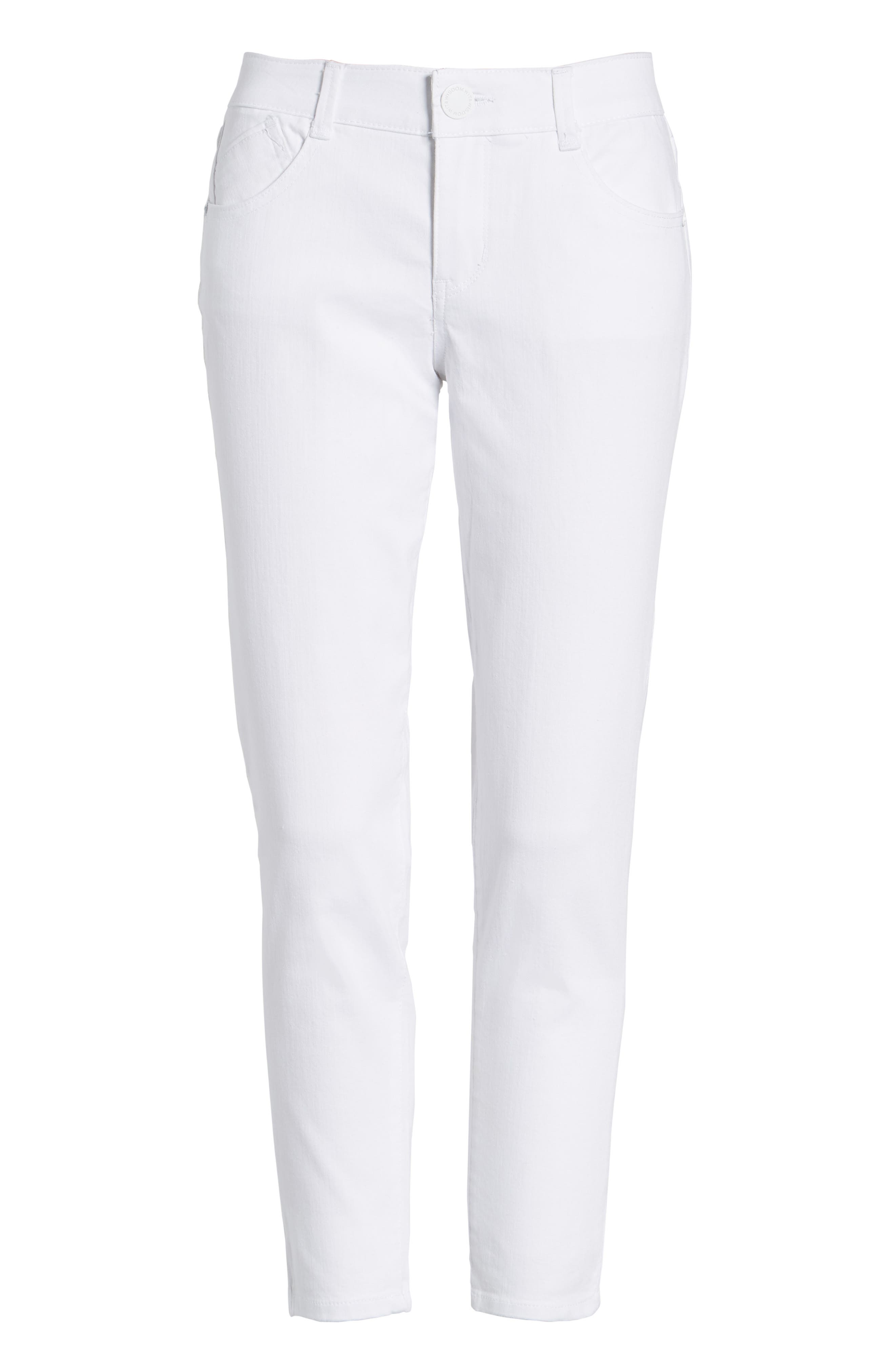 Ab-solution Skinny Crop Jeans,                             Alternate thumbnail 6, color,                             101