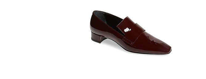 Patent loafers.