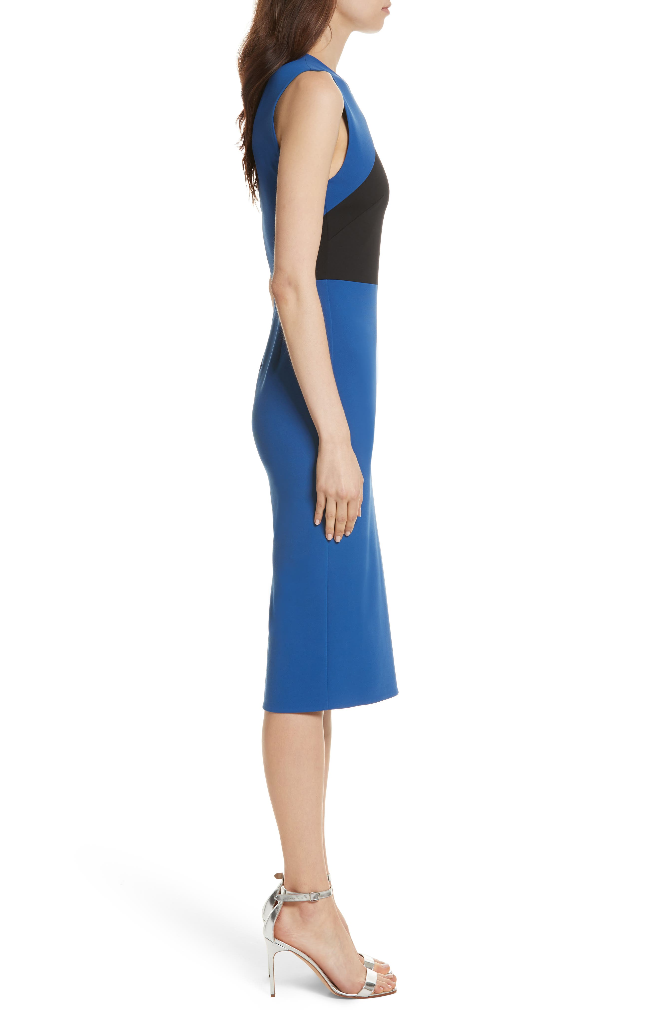 Colorblock Sheath Dress,                             Alternate thumbnail 3, color,