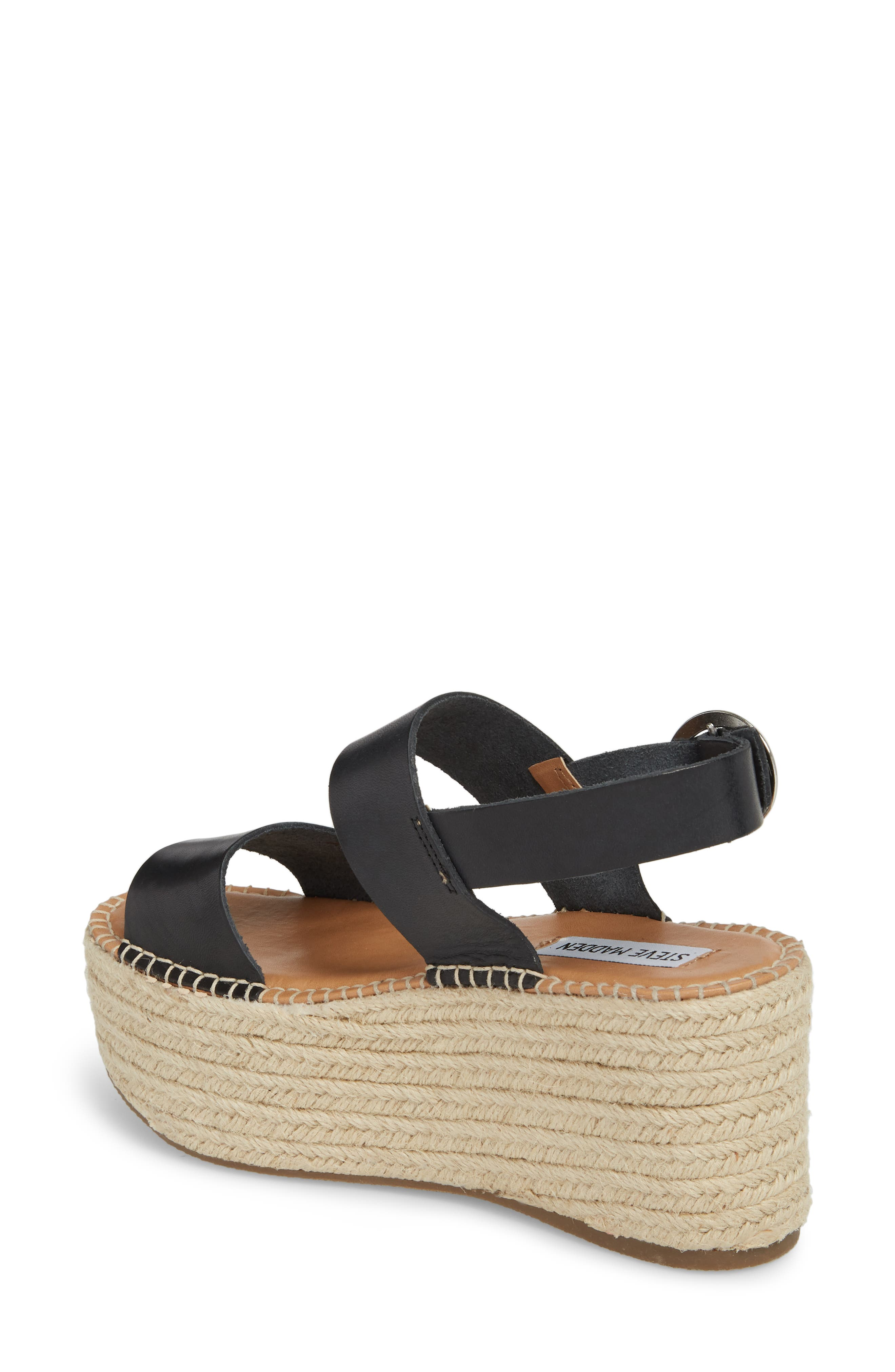 Cali Espadrille Platform Sandal,                             Alternate thumbnail 4, color,