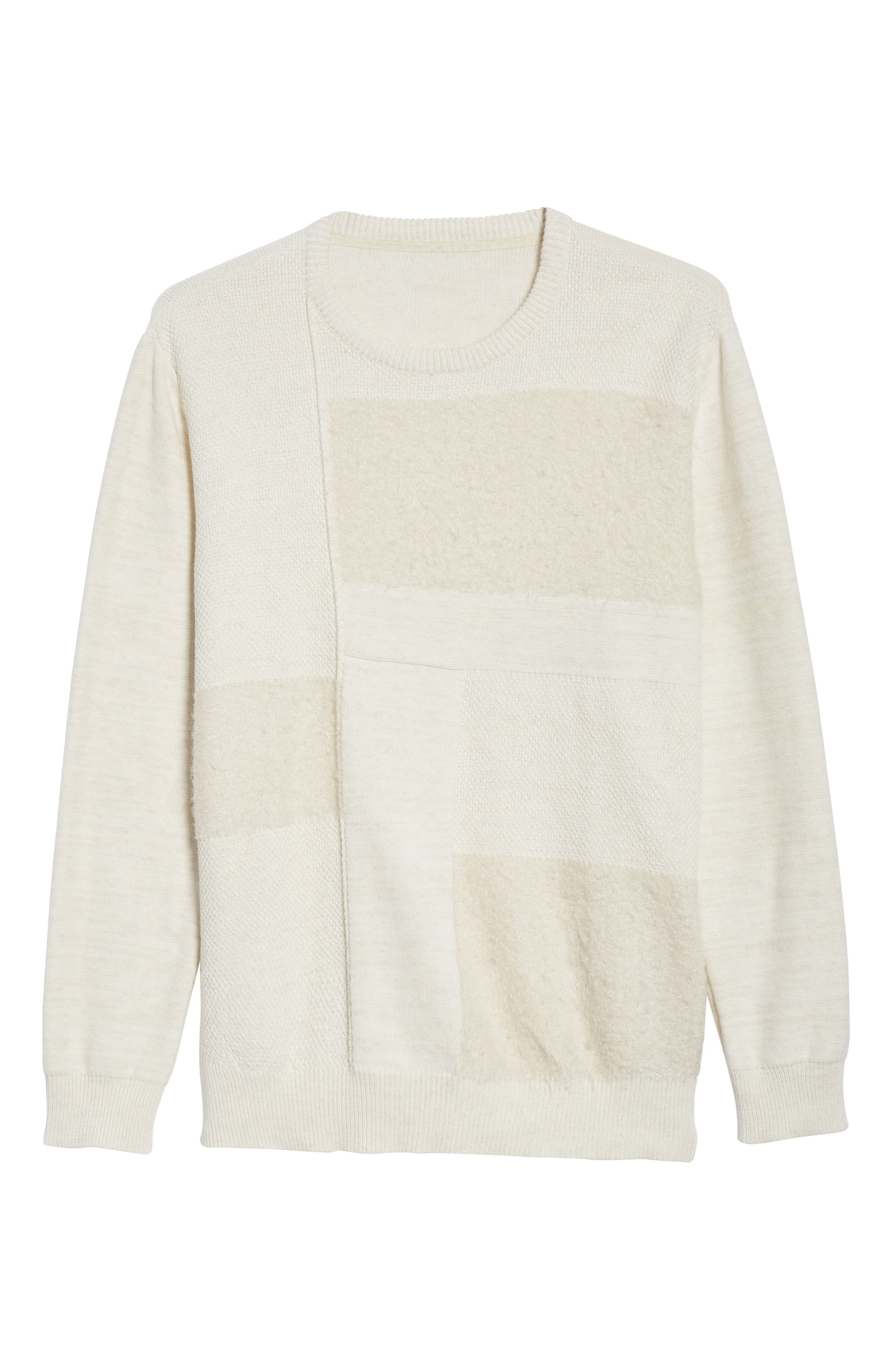 Oversized Silk Sweater,                             Alternate thumbnail 6, color,                             101
