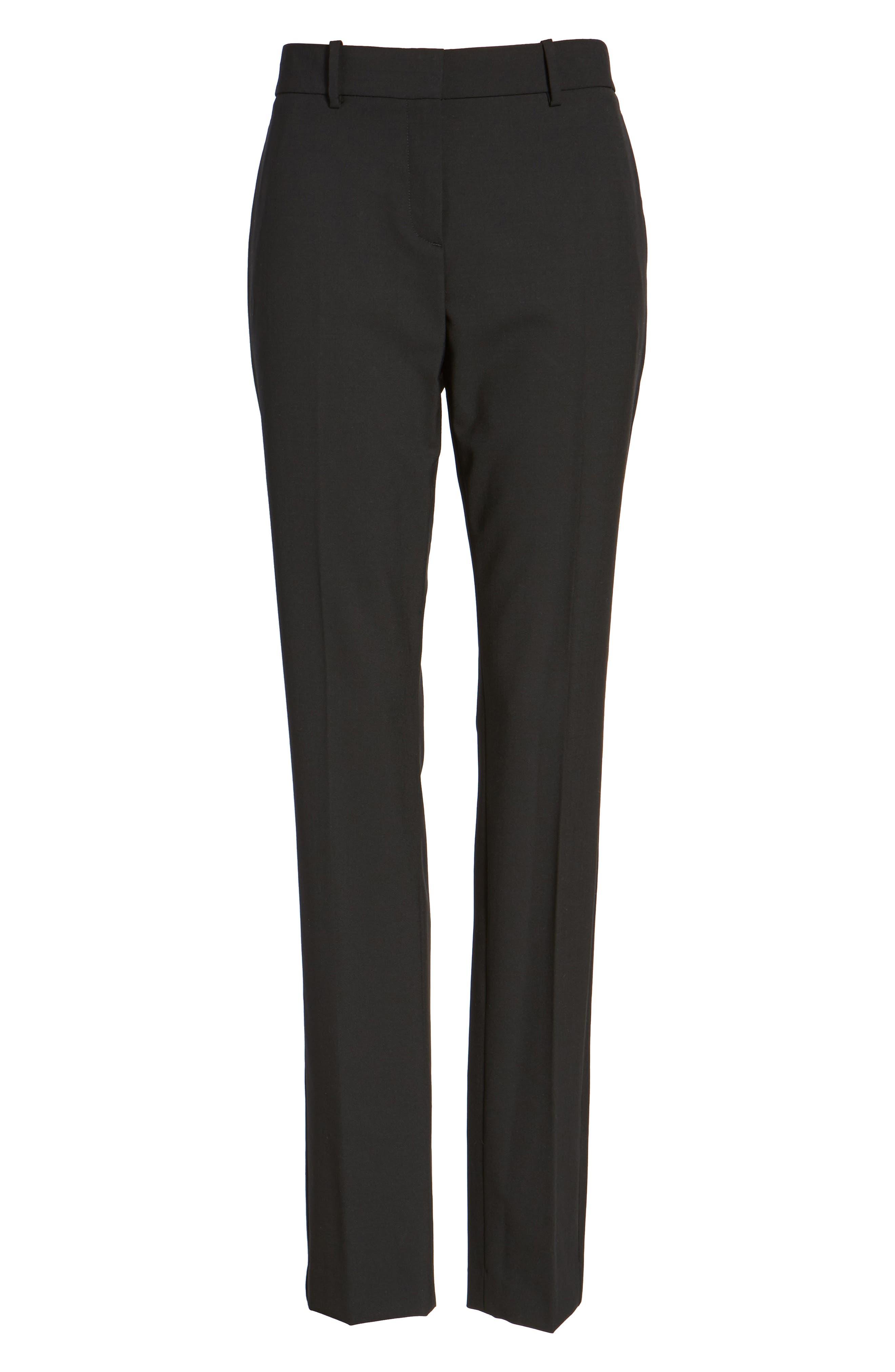 'Super Slim Edition' Stretch Wool Pants,                             Alternate thumbnail 2, color,                             001