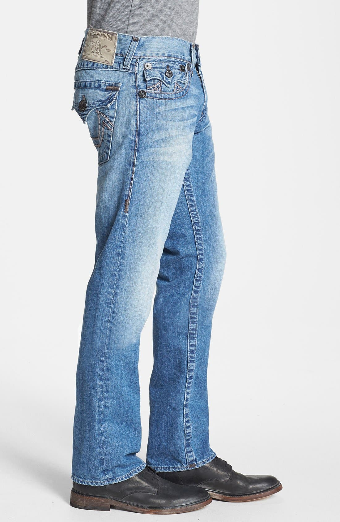 'Ricky' Straight Leg Jeans,                             Alternate thumbnail 4, color,                             400