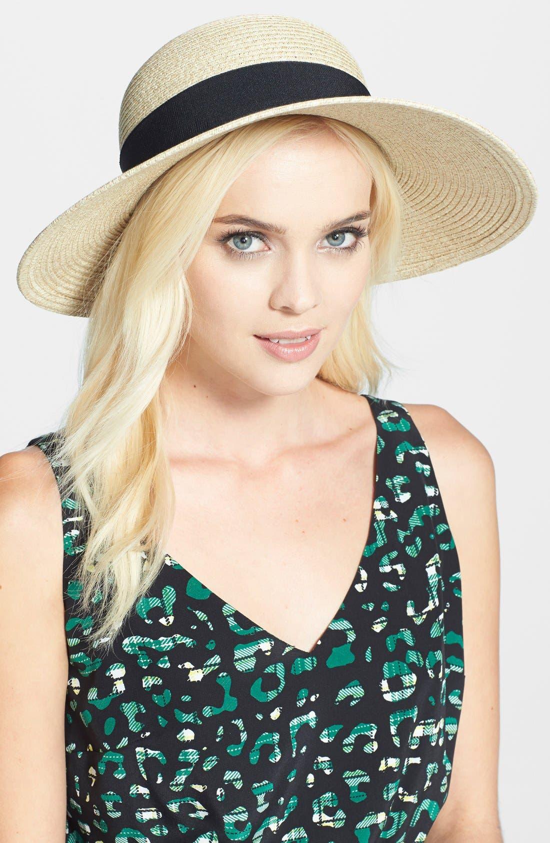 Wide Brim Sun Hat,                             Main thumbnail 8, color,