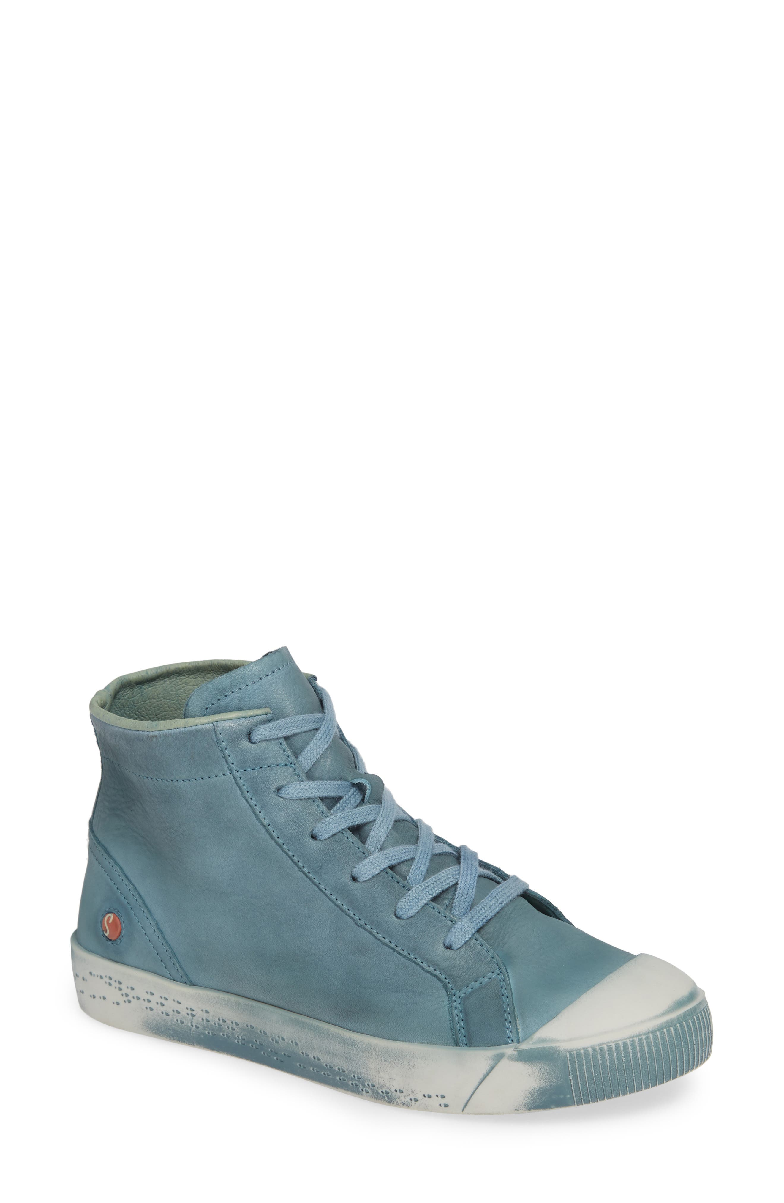Kip High Top Sneaker,                         Main,                         color, NUDE BLUE WASHED LEATHER