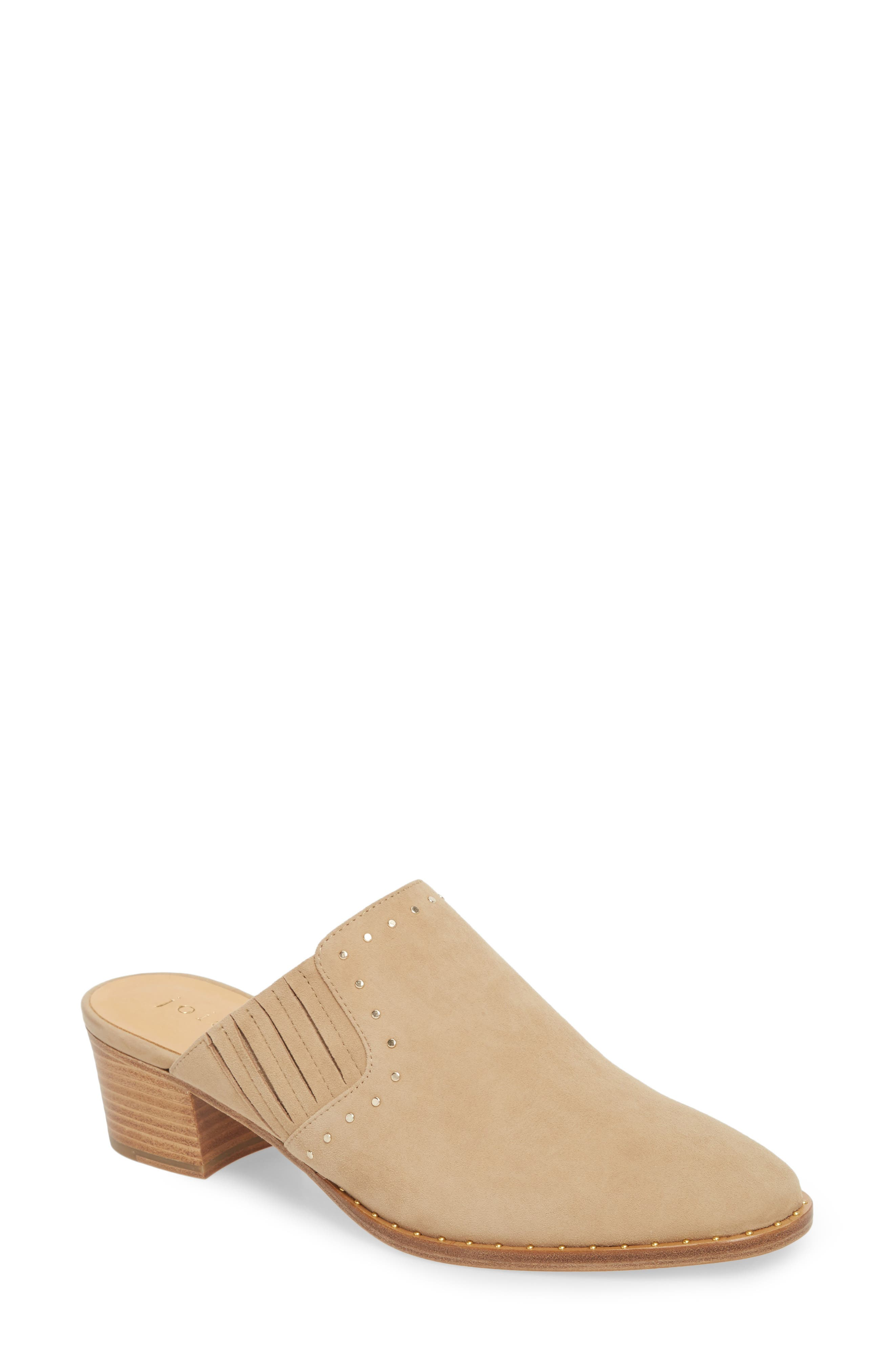 Fayla Studded Mule,                             Main thumbnail 1, color,                             SAND