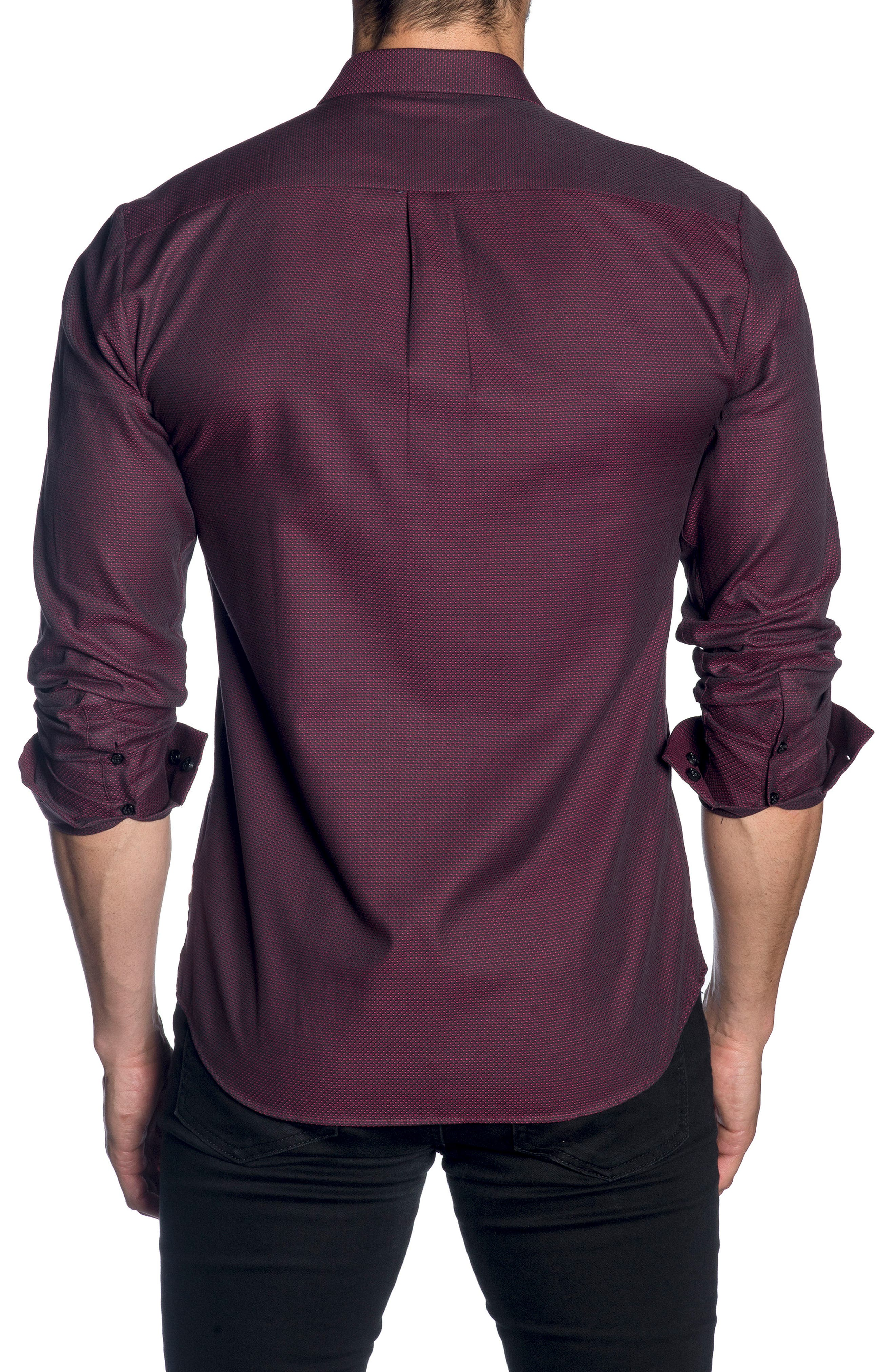JARED LANG,                             Trim Fit Sport Shirt,                             Alternate thumbnail 2, color,                             600