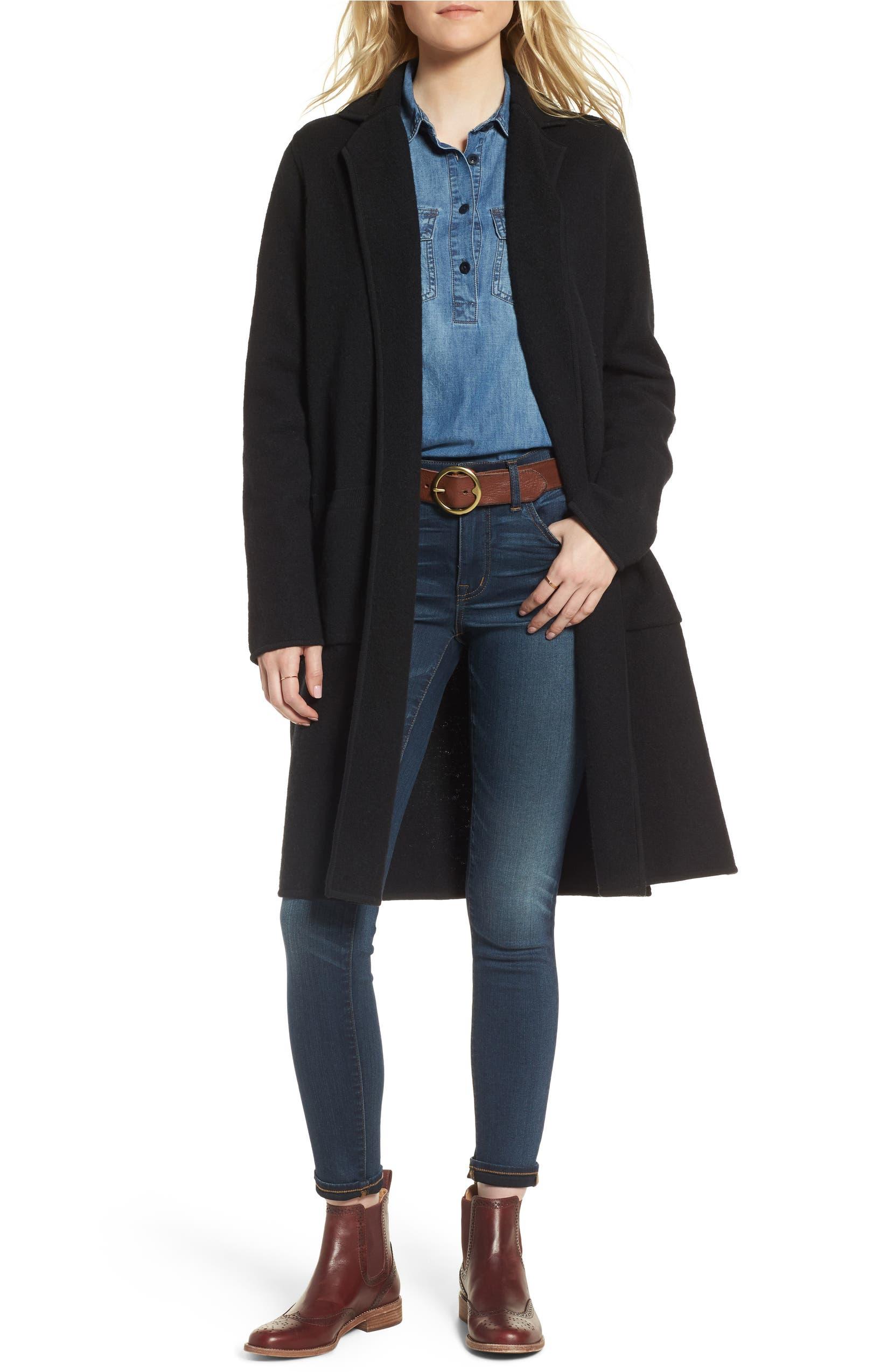 Madewell Camden Sweater Coat  c4d82be0156d