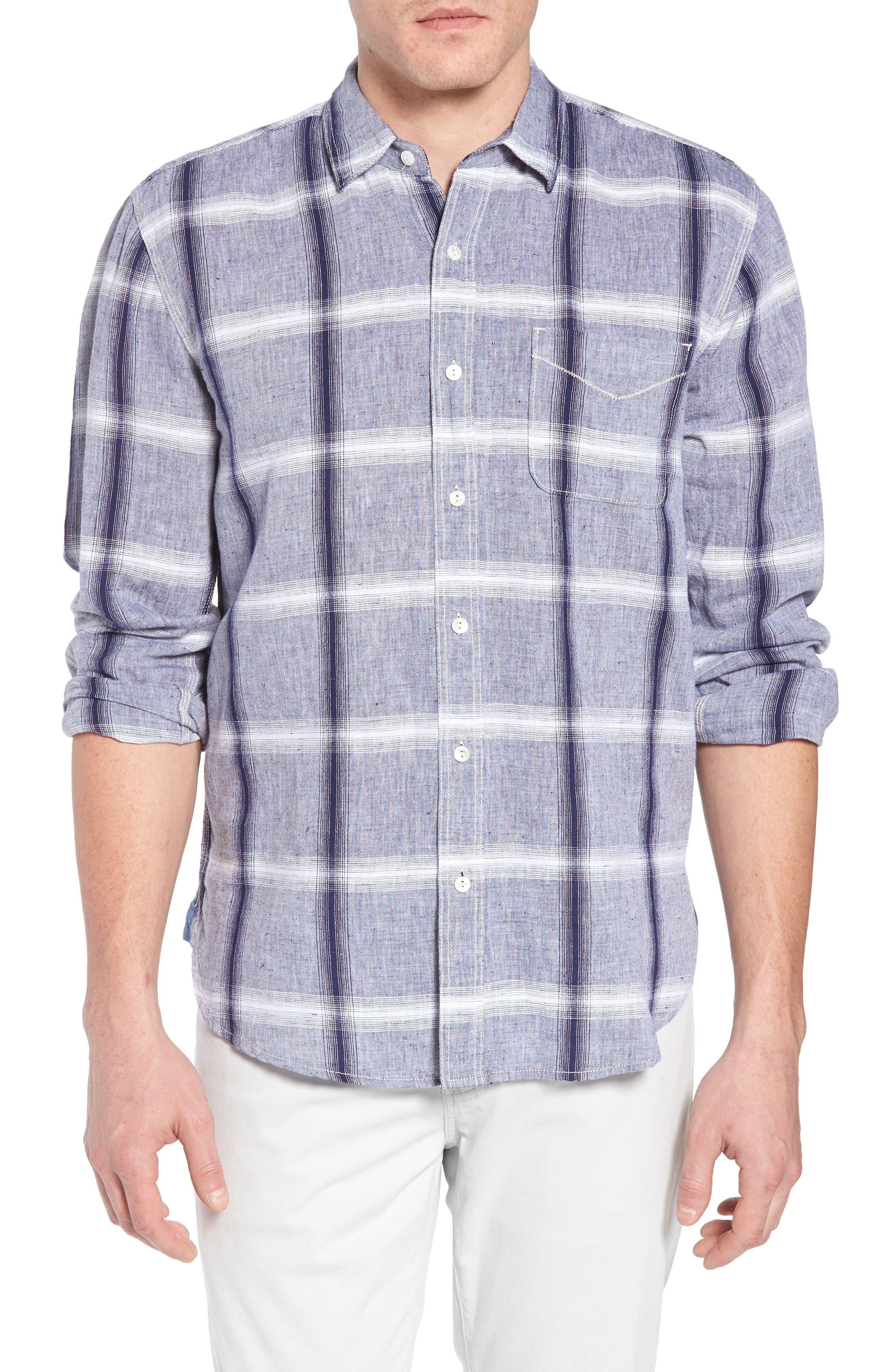 TRUE GRIT Ventura Windowpane Sport Shirt, Main, color, 400