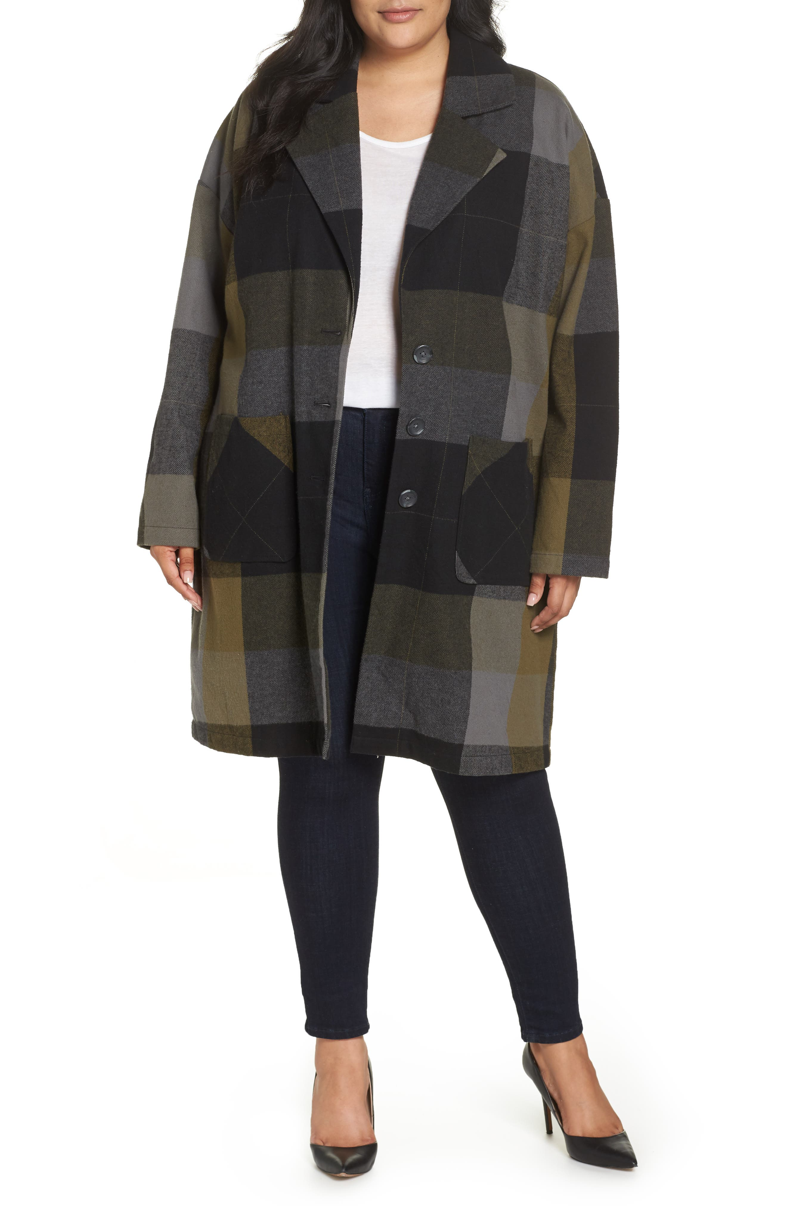 Plaid Duster,                             Alternate thumbnail 2, color,                             001