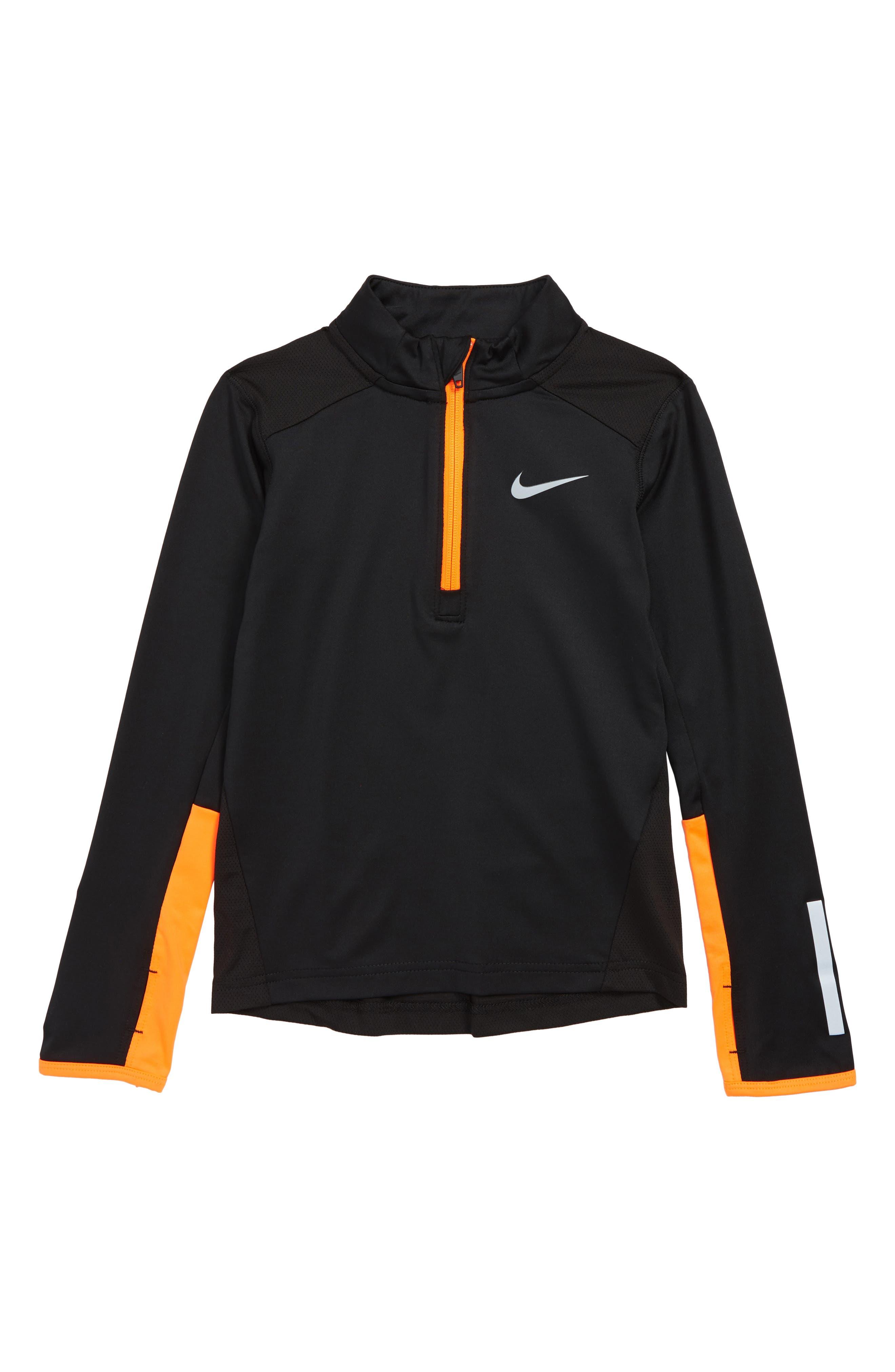 Dry Element Half Zip Pullover,                             Main thumbnail 1, color,                             BLACK