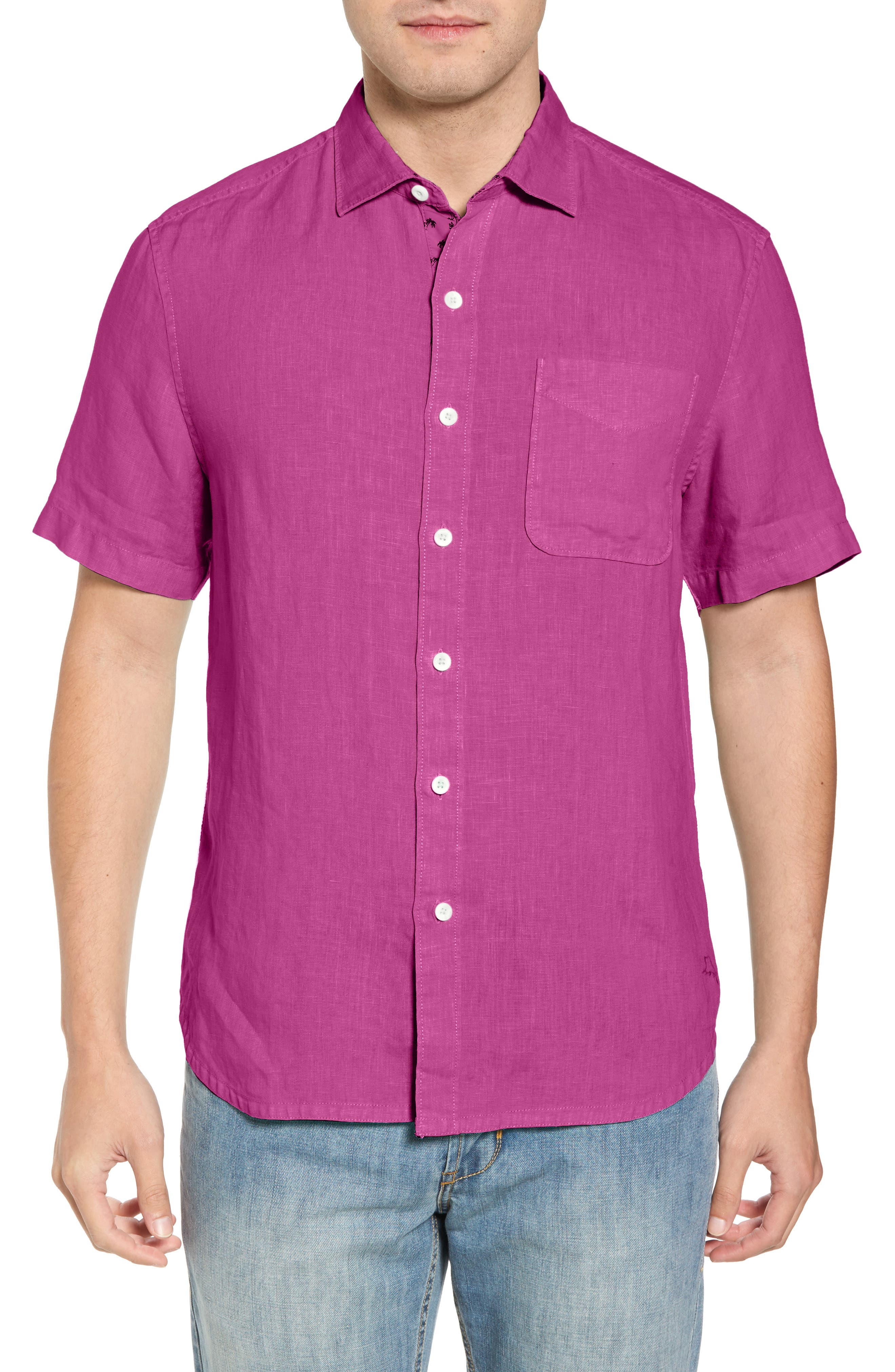 Seaspray Breezer Regular Fit Linen Sport Shirt,                             Main thumbnail 8, color,