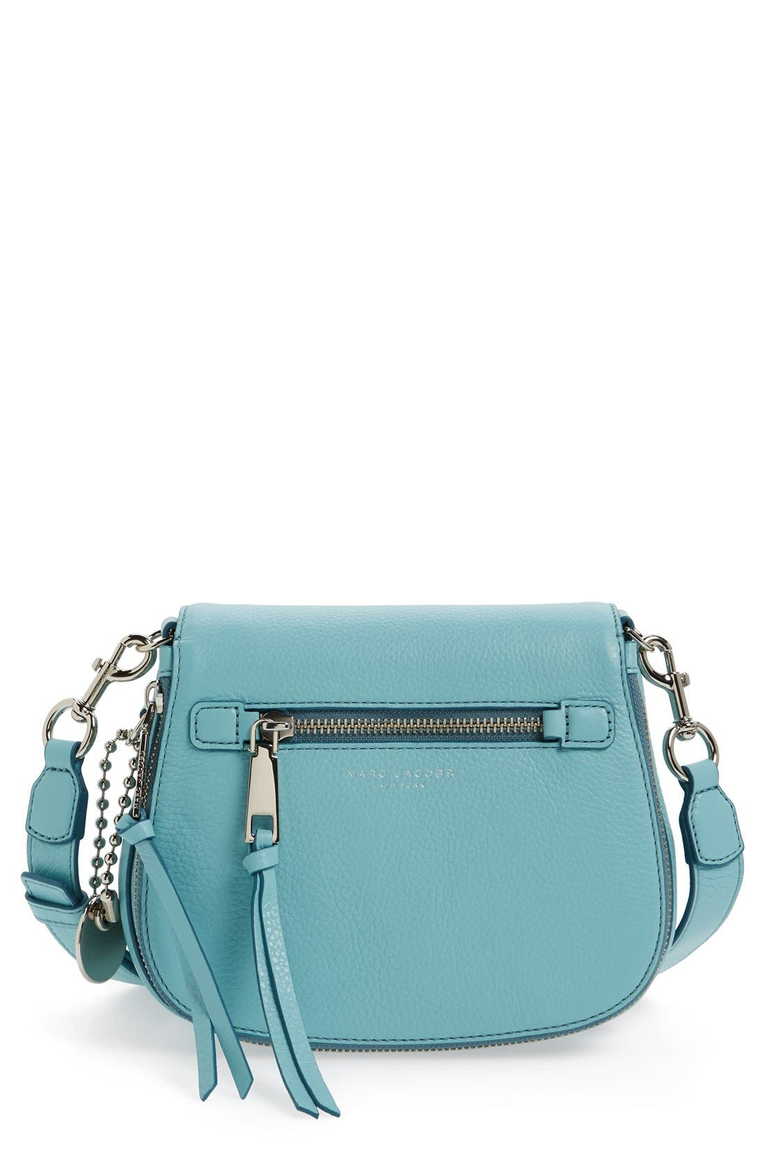Small Recruit Nomad Pebbled Leather Crossbody Bag,                             Main thumbnail 10, color,