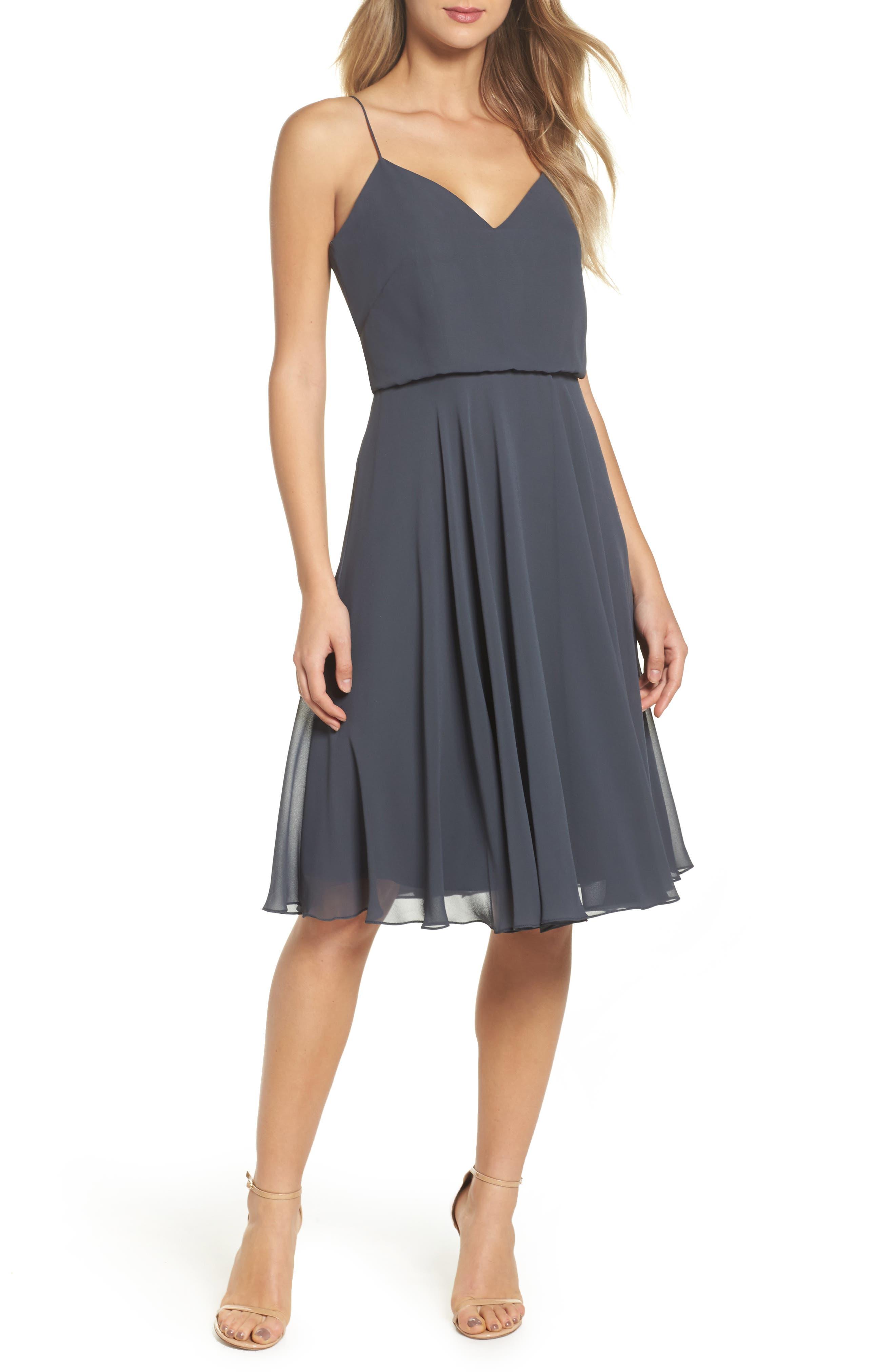 JENNY YOO Sienna Chiffon Dress, Main, color, 026